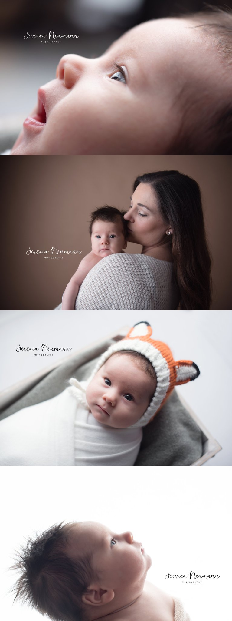 Calm newborn boy photos in Frederick, MD
