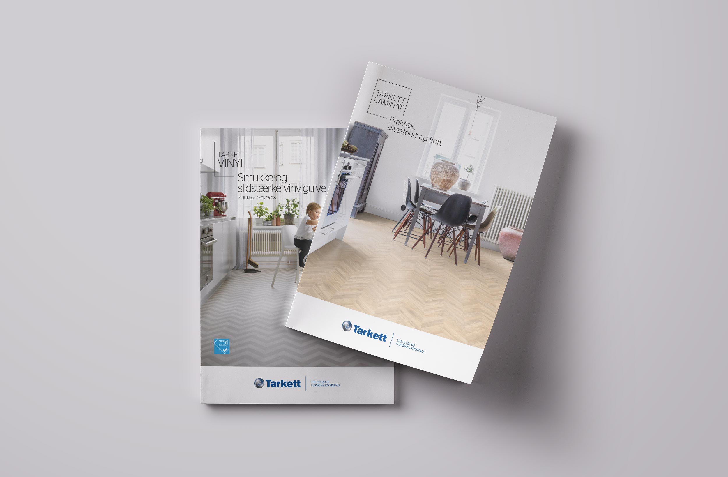 Tarkett broschyrer på 4 språk för nordiska marknaden