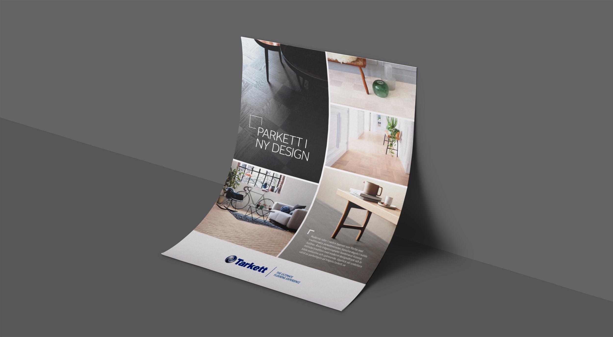 Trä-annons för Tarkett.