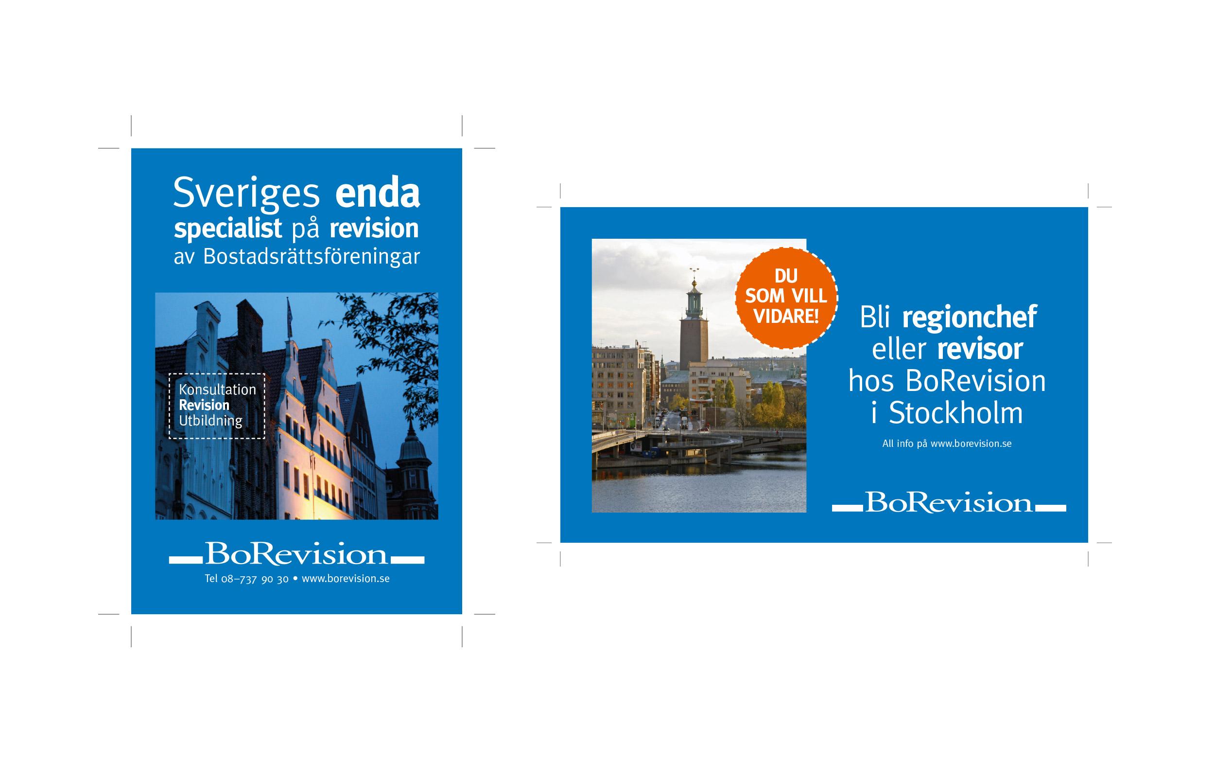 Image-annons & rekryterings-annons för Bo Revision.