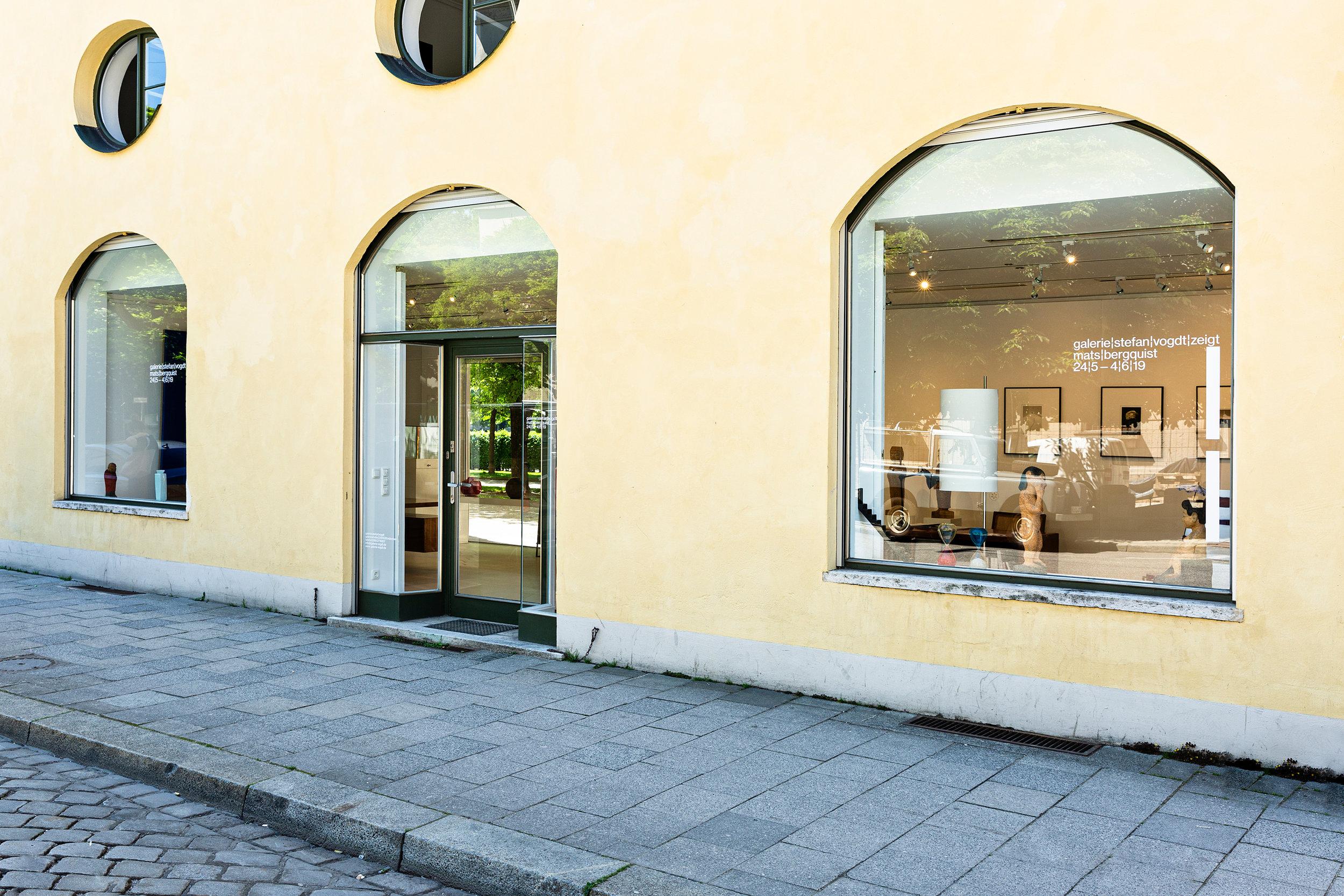 Außenansicht der Galerie Stefan Vogdt in der Galeriestraße 2 in München , 2019 Foto: Francesco Giordano