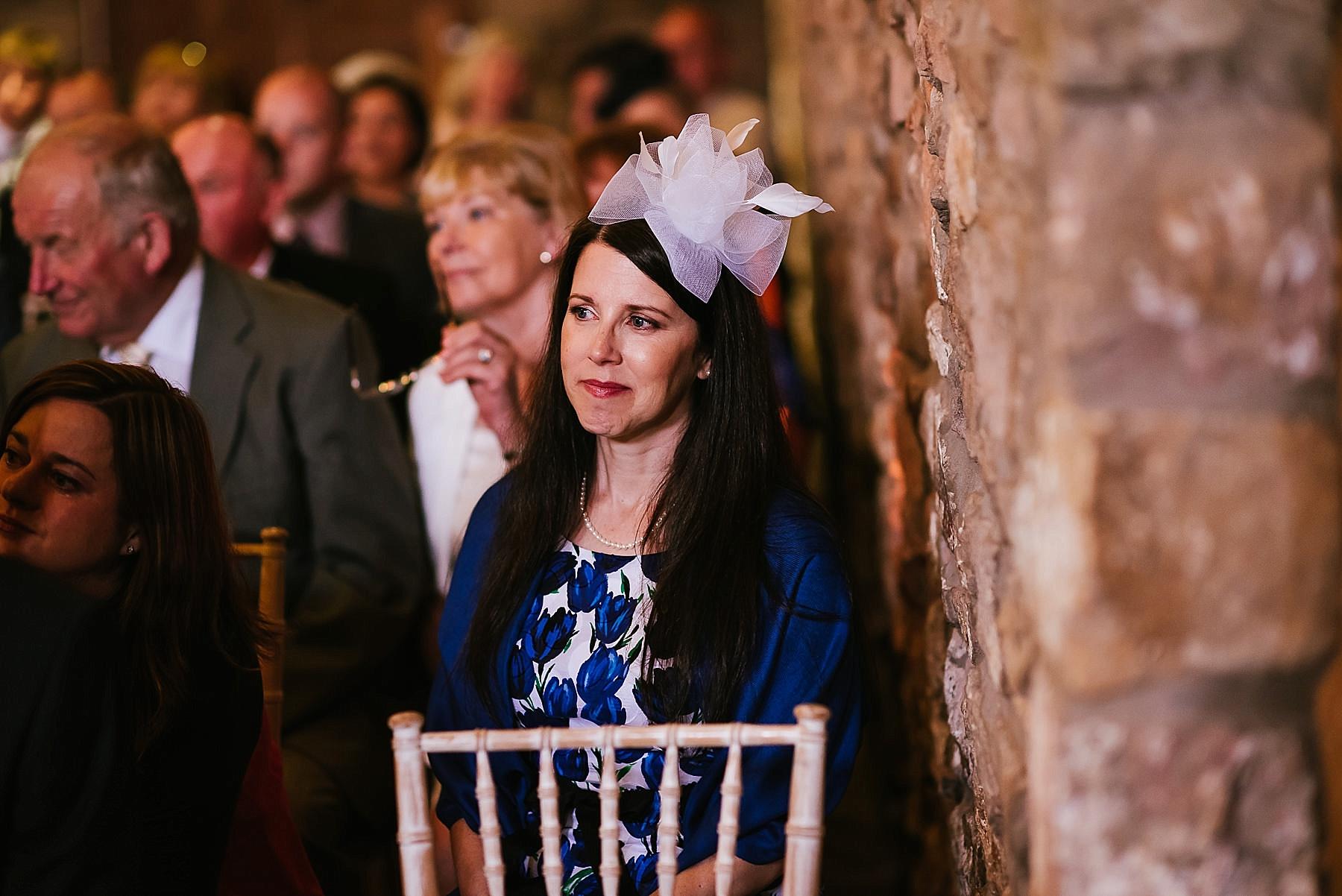 wedding guest looking emotional