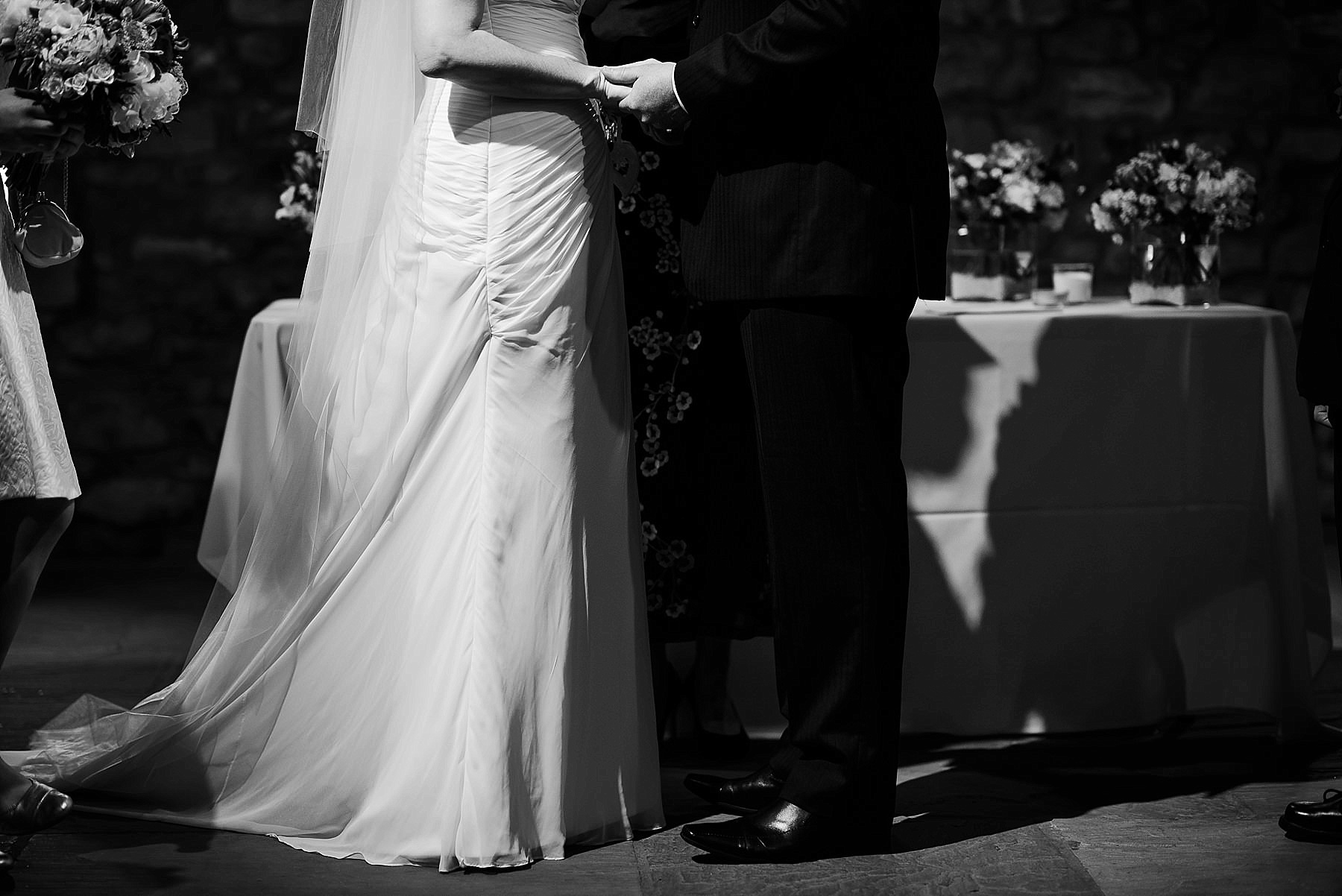 holding hands in the ceremony