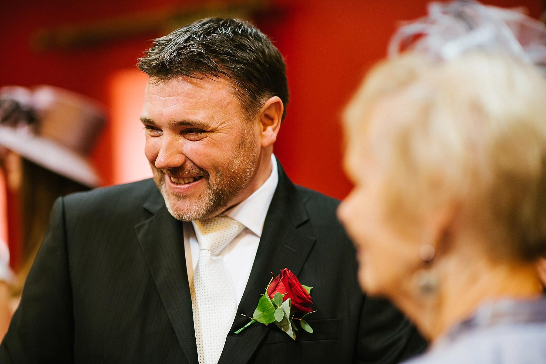 telephoto lens shot of groom