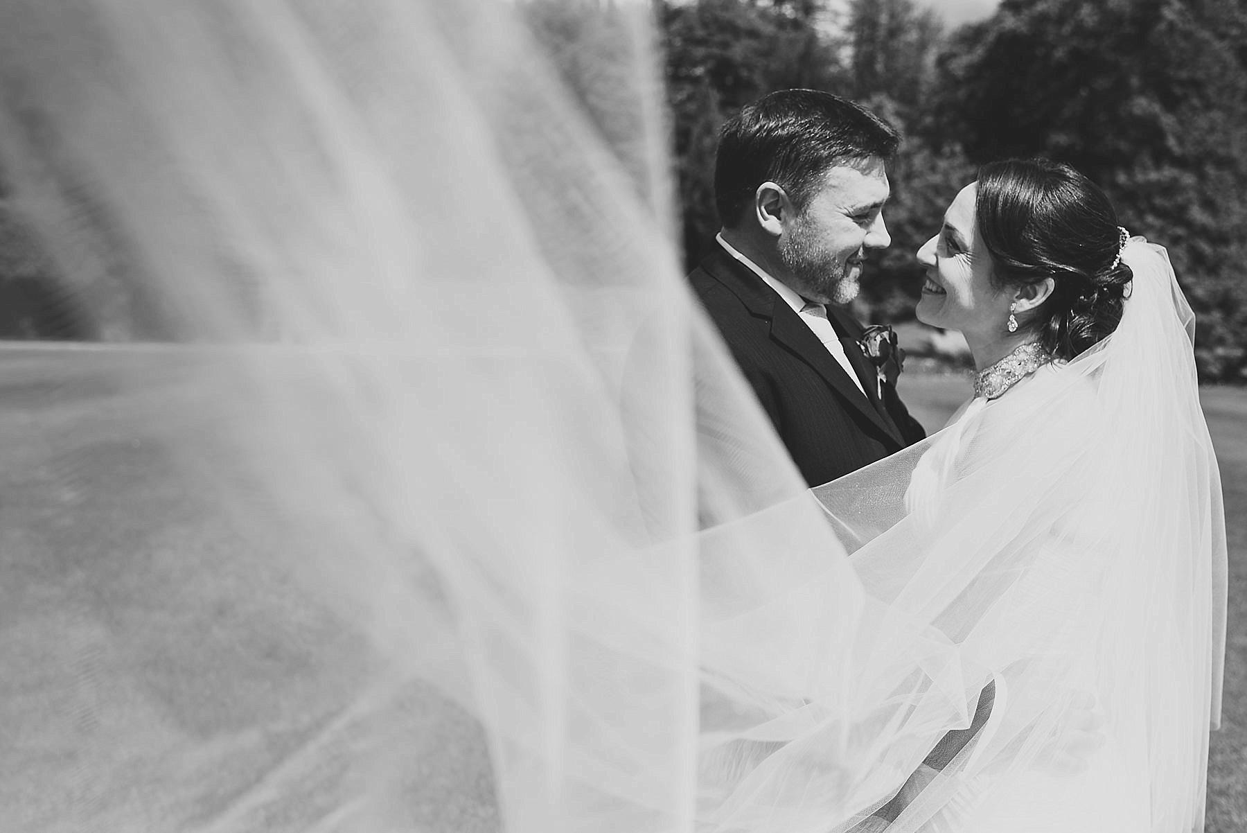veil wedding portrait