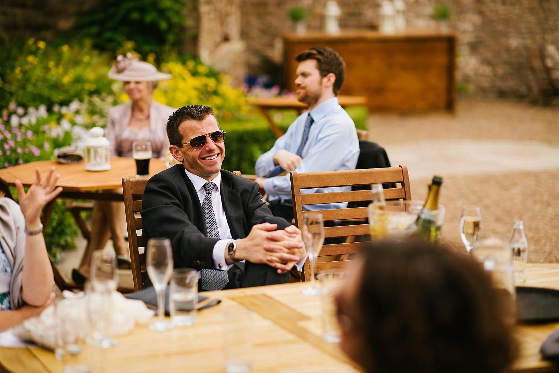 man smiling at browsholme hall