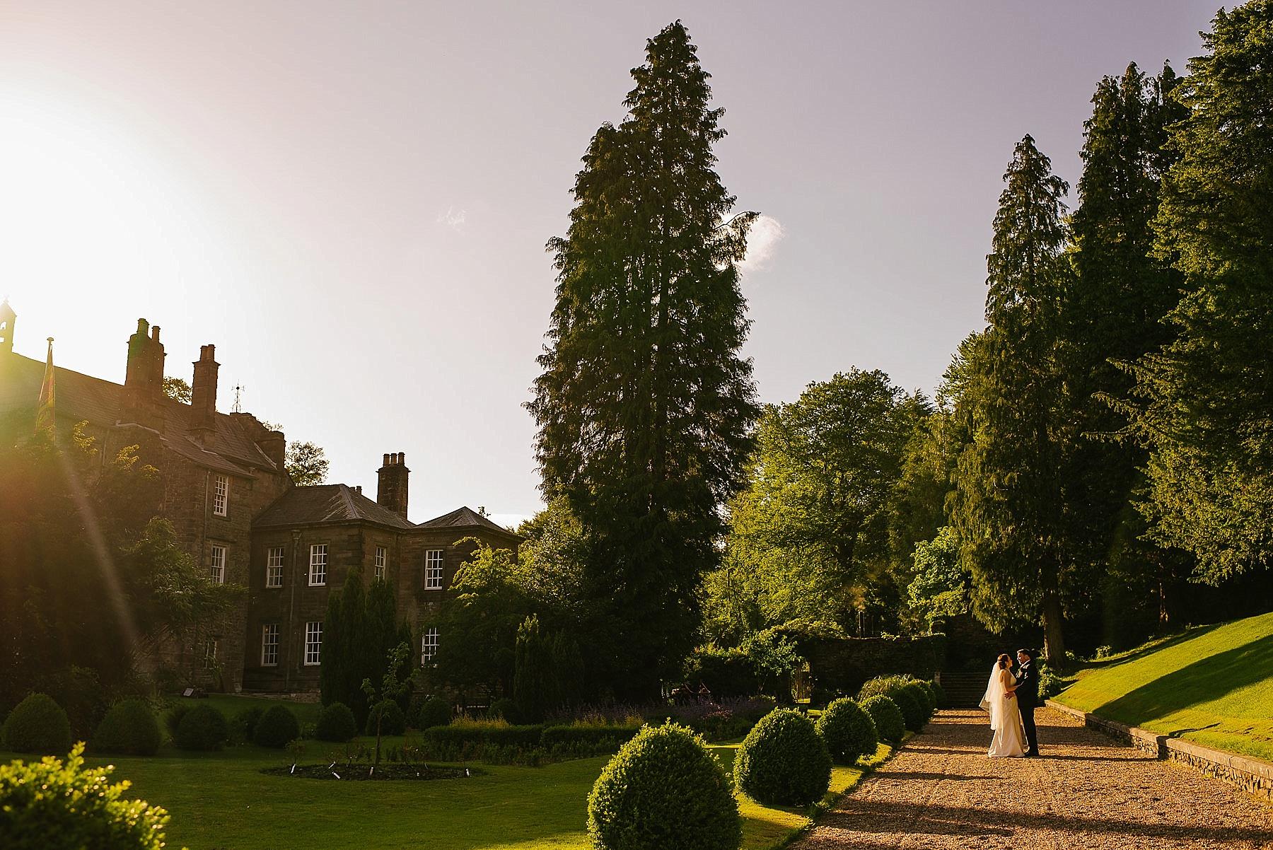 wide angle of the grounds at browsholme hall