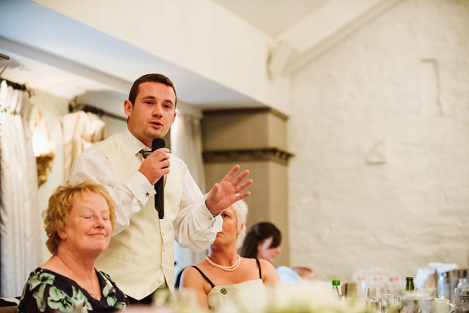 the best man doing his speech