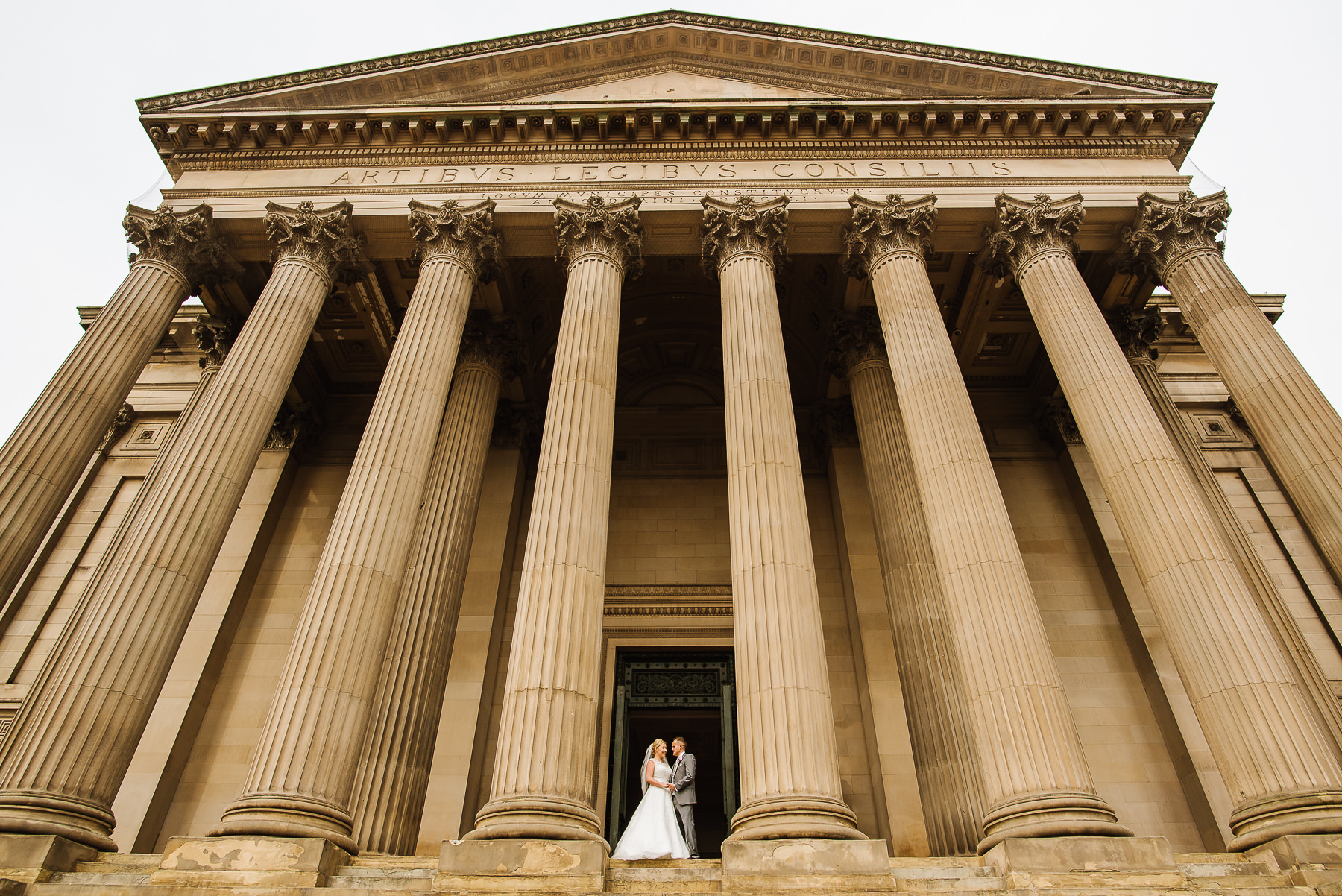 Wedding portrait at Liverpools St Georges Hall