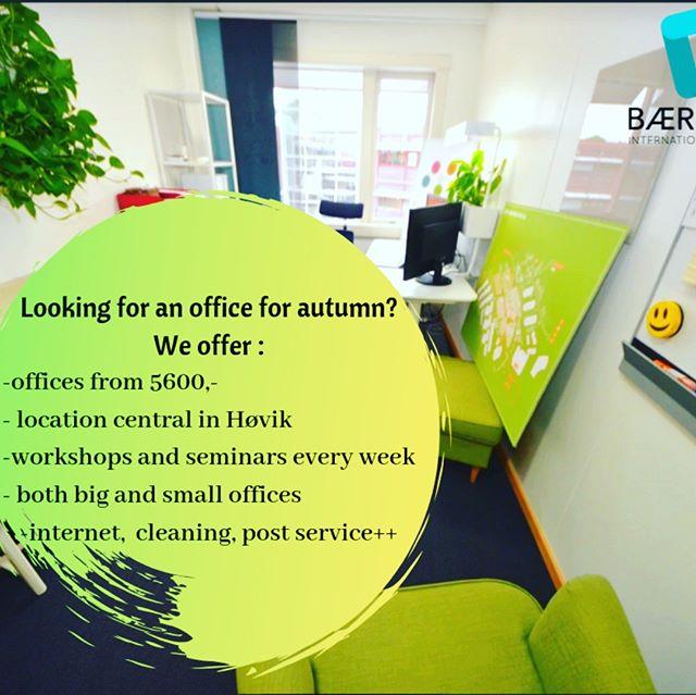 We have available  offices, different sizes and different prices! Find the one suitable for your needs :) #bih #oih #bæruminternationalhub #hub #coworking #kontorihøvik #kontoribærum #høvikhelsehus #businessoslo