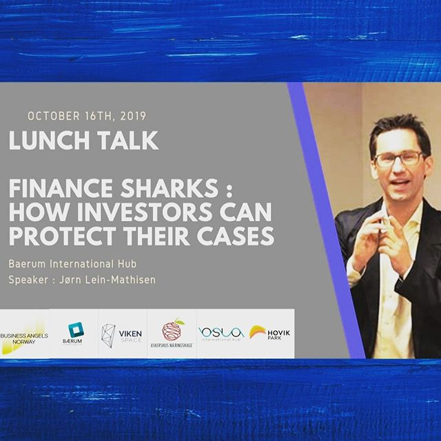 LUNCH TALK DURING #startupfestivalen2019  In 2018 London-based ABO attacked Norwegian startups with death-spiral loans.  During lunch 12:30-13:30+, Induct Software CEO/COO will present from 13:10 to 13.30: Finance Sharks : How angels/investors can protect their cases - the case of Induct software and a secret company.  Speaker : Jørn Lein-Mathisen - Managing director BUSINESS ANGELS NORWAY.  Where: Bærum International Hub, Fjordveien 1  When: 16th October from 13:10 to 13:20  Don't miss it! • • • •  #bih #startupfestivalen2019 #oih #bæruminternationalhub #finance #intestment #startups #businessbærum #oslointernationalhub #vikenspace #høvikpark