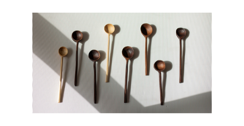 These are my perfectly imperfect walnut spoons I made to fund the opening of woodworking studio for women in Berlin.