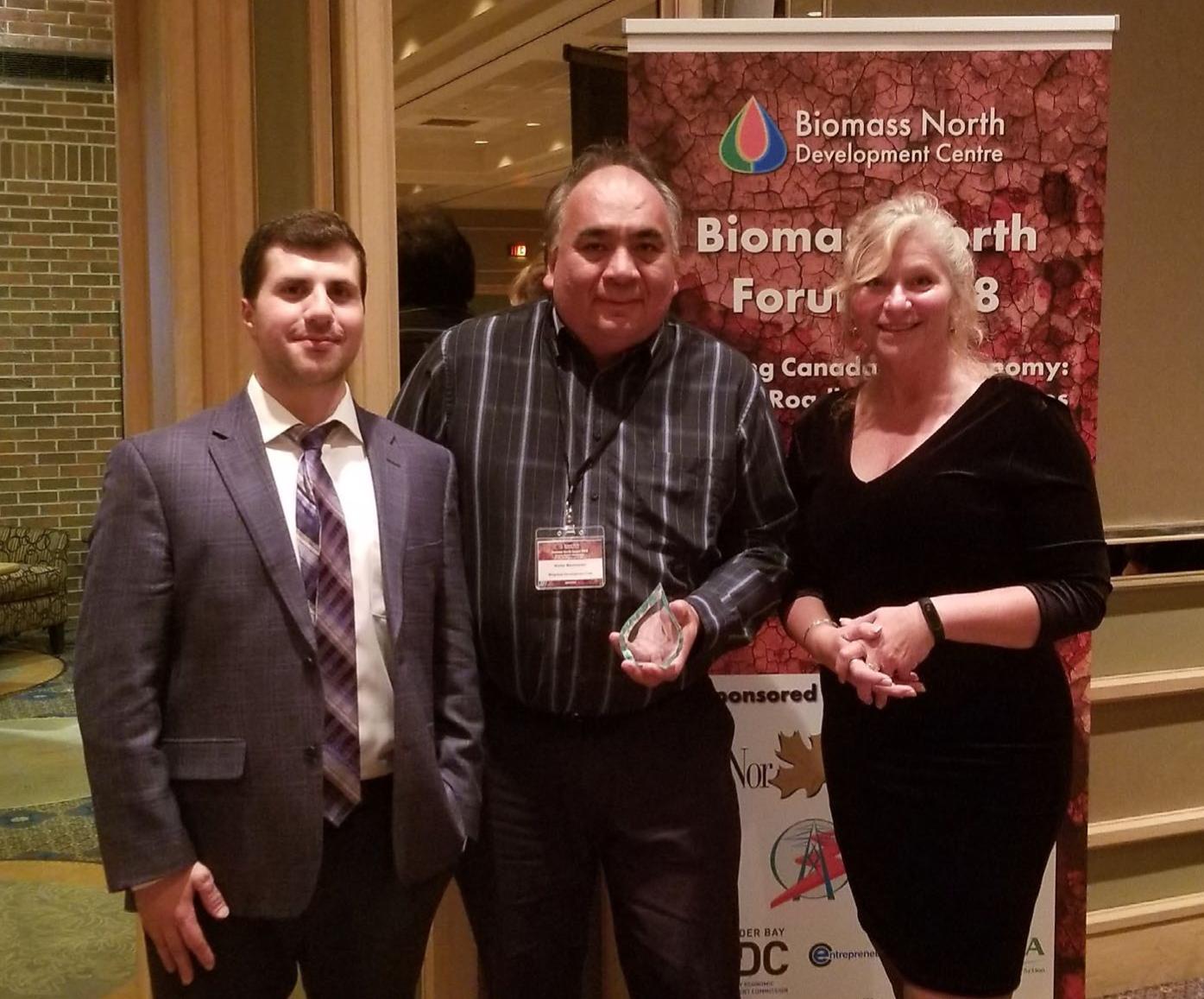 Champion in the Bioeconomy - Awarded to: Walter ManitowabiCommunity Engagement, Mitigokaa Development Corp.Managing Partner - Three Fires Solutions
