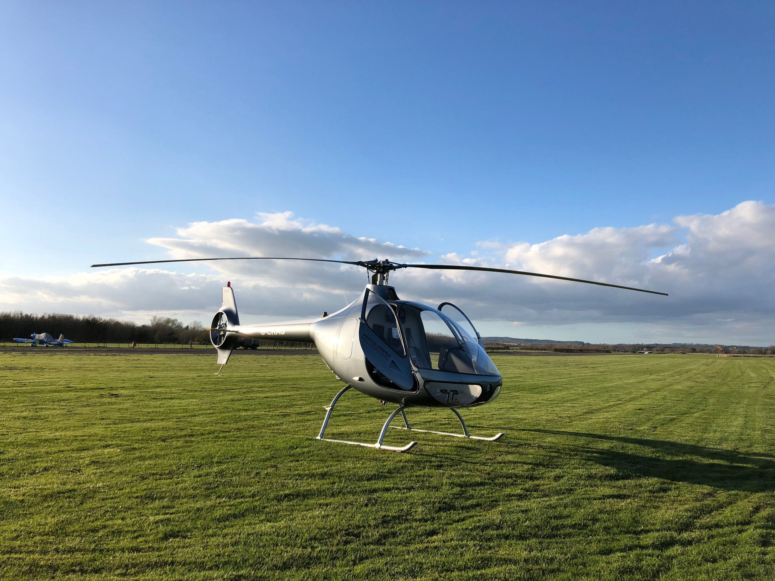 Helicopter Eshott Airfield