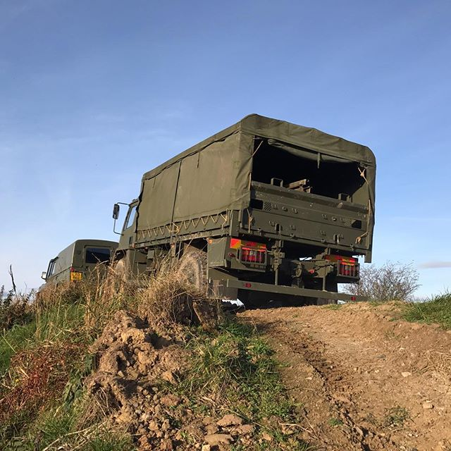 The Land Rover and DAF truck taking a quick run around the off road course #Army #military #driving #experience #gift #offroad #xperience #morpeth #northumberland #eshott