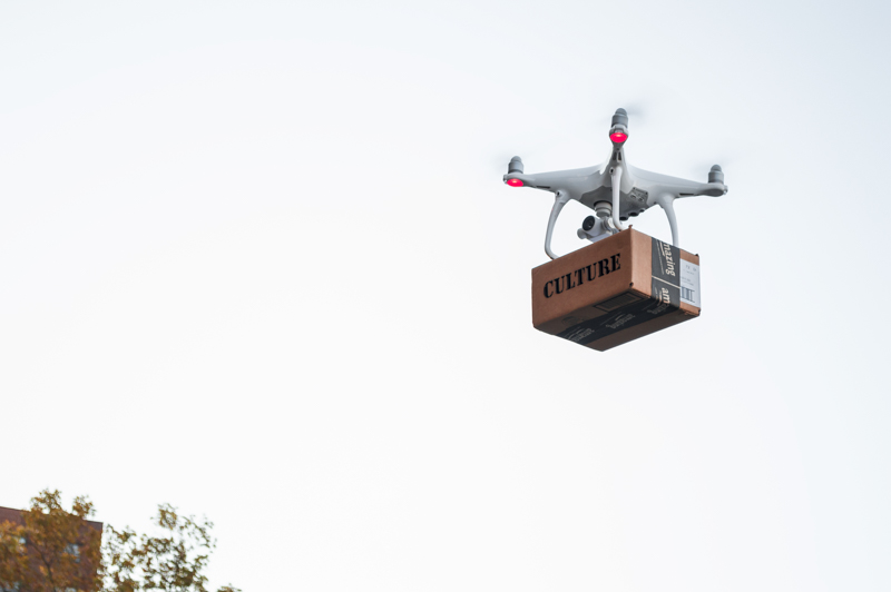 Drone Delivery , Archival inkjet print, 20 x 24 inches, 2016.