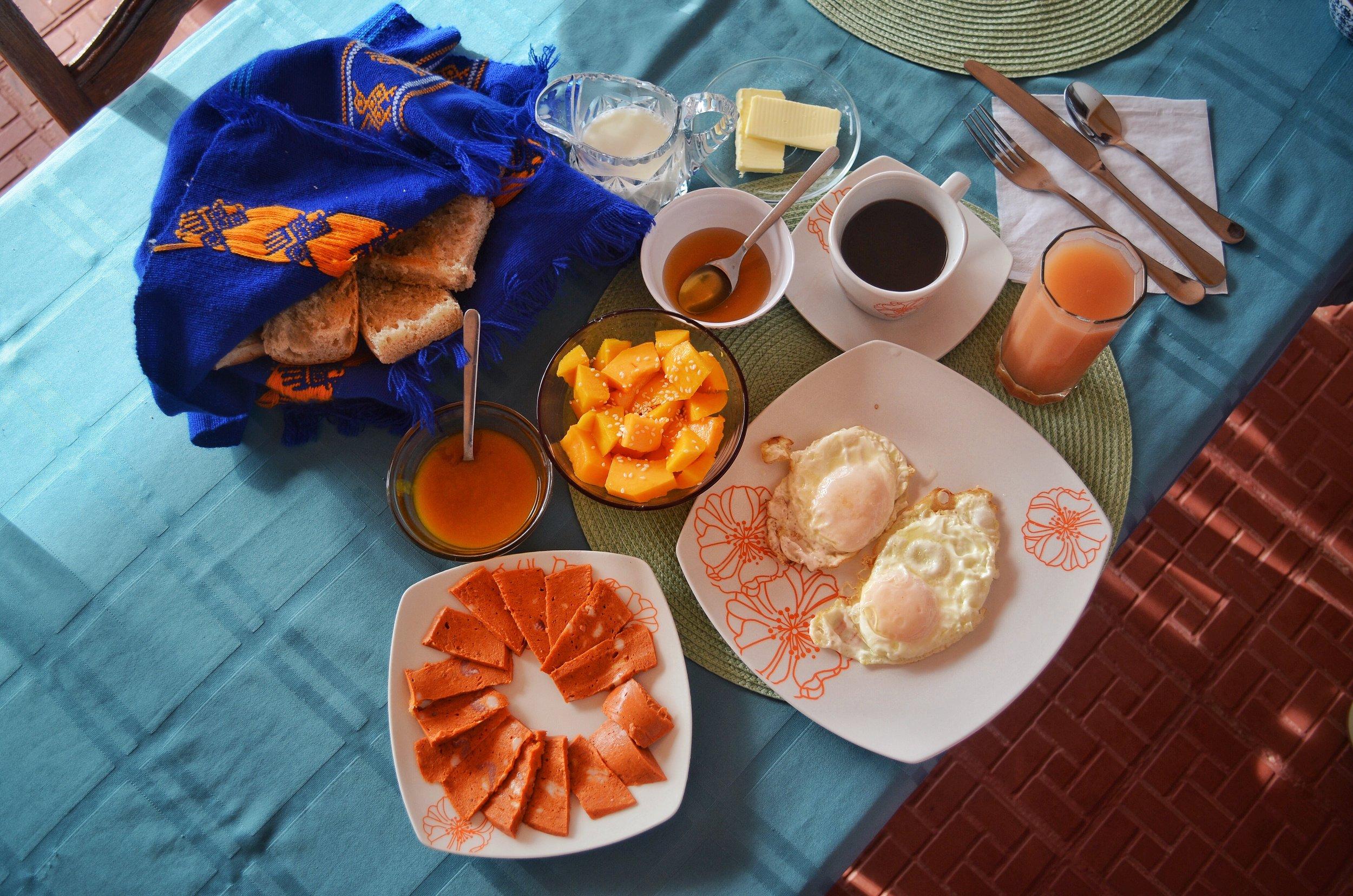 Breakfast at Villa Paradiso - Baracoa, Cuba
