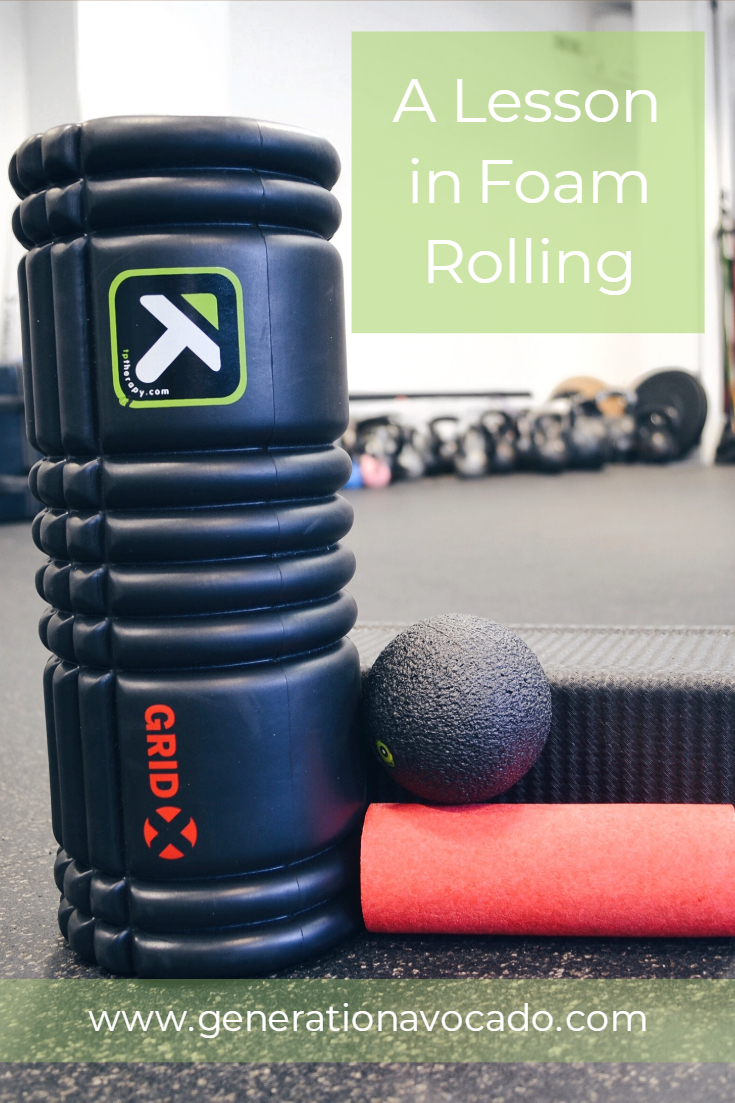 A lesson in foam rolling at Balance Performance Physiotherapy - South London