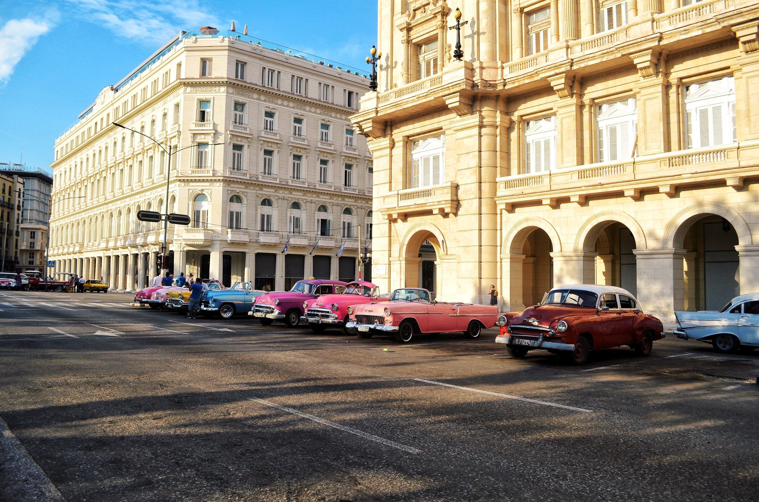 Vintage cars in Old Havana, Cuba