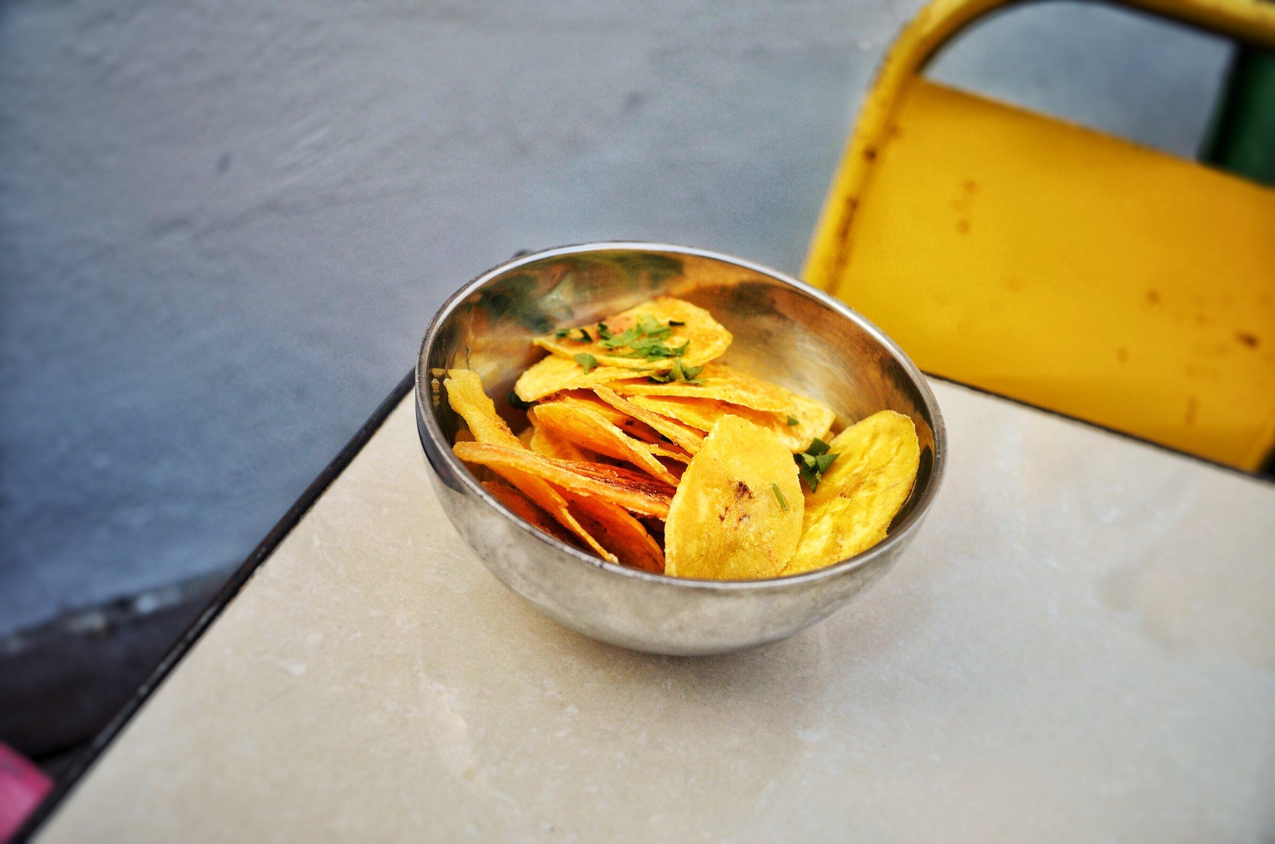 Plaintain Chips at El del Frente Restaurant, Havana, Cuba