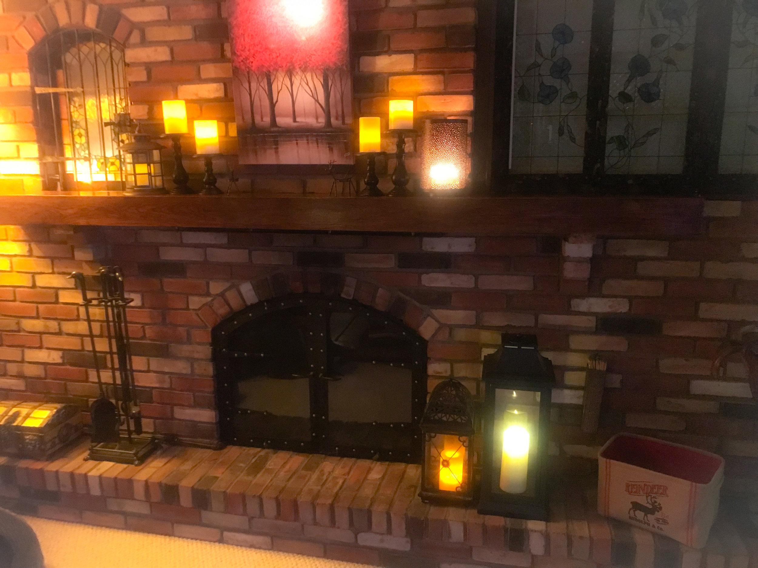 More flameless candles and amber lighting