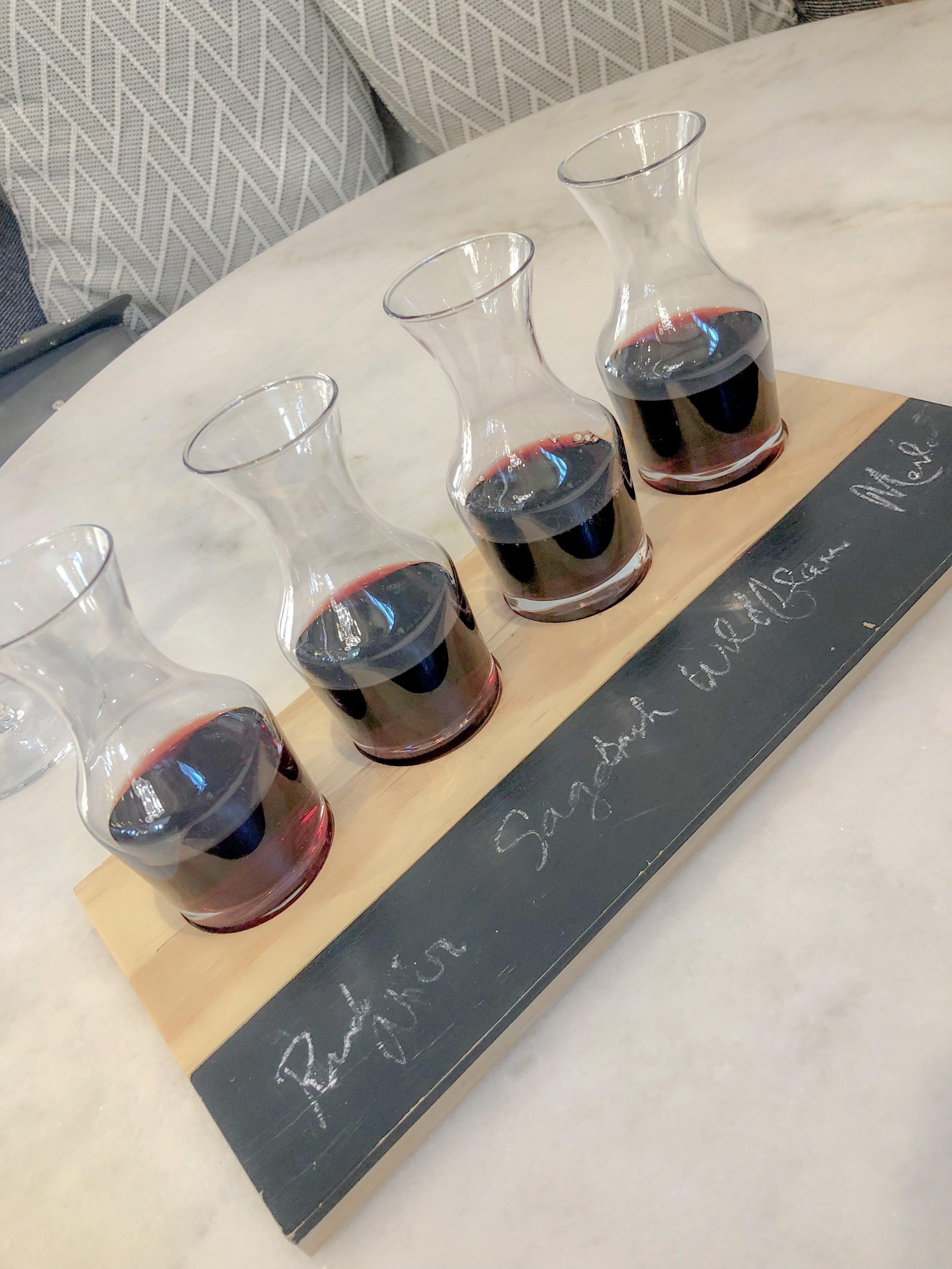 My Red Wine Flight