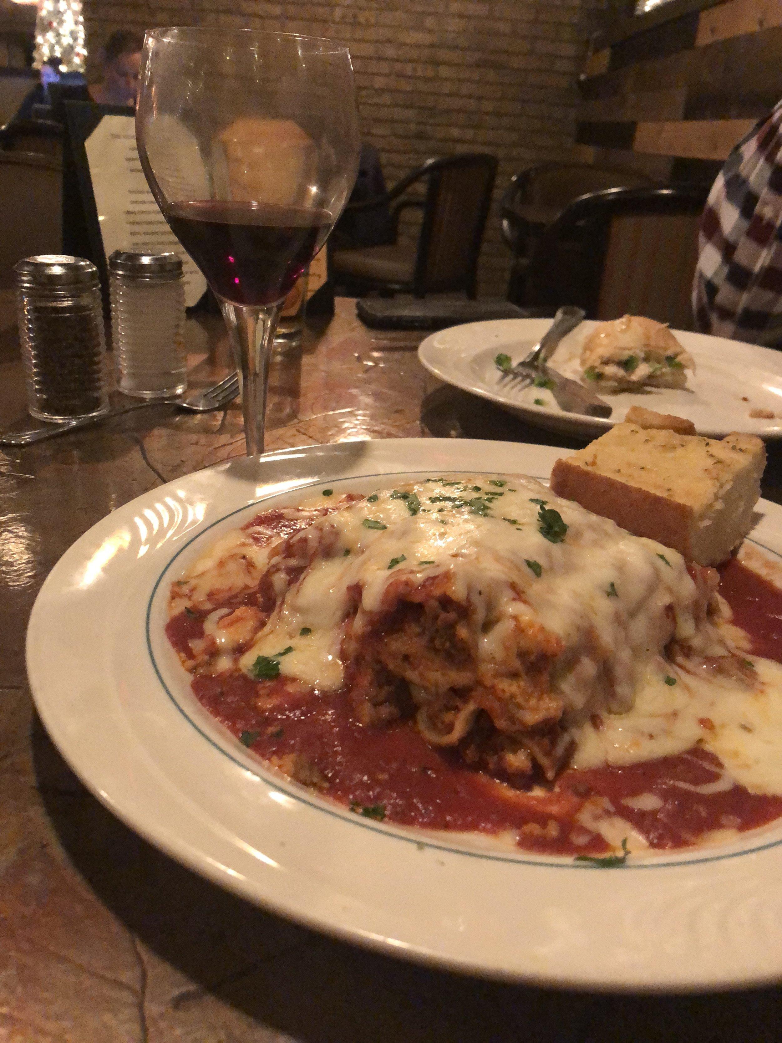 Delicious homemade lasagna