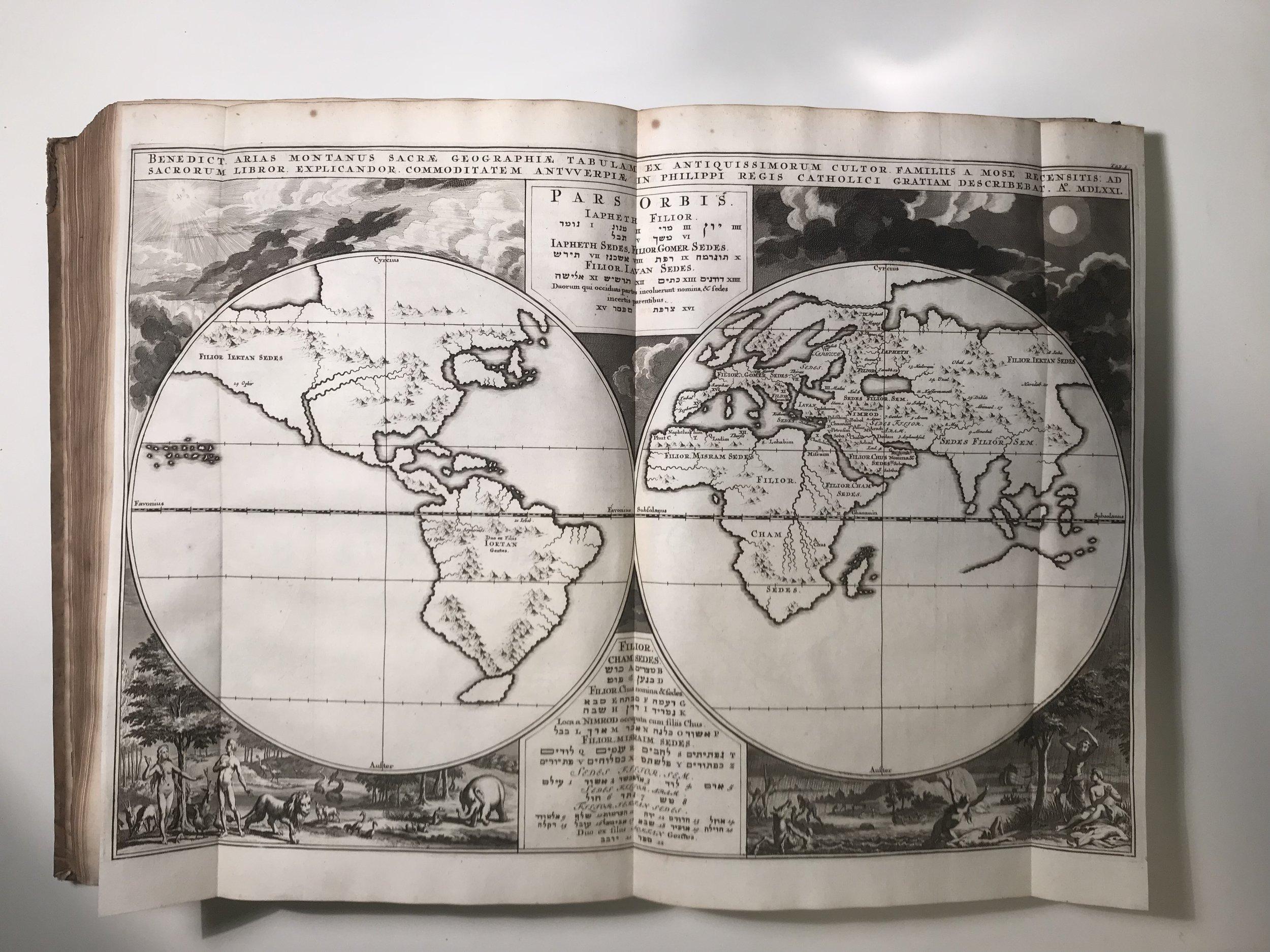 17th Century World Map showing North Coast of Australia