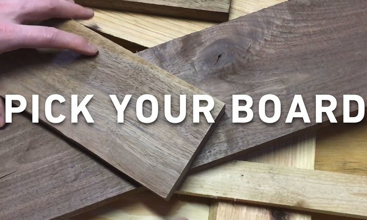 STEP 1 - PICK YOUR BOARD || We chose a thicker board from our scrap pile that had good character. The thicker the better so that it stands on it's own easier. If you do not have any boards lying around, we recommend picking up one at Lowe'sor your local lumberyard.