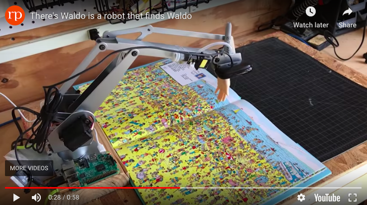 Screen grab from  There's Waldo is a robot that finds Waldo , redpepper, 8 August 2018