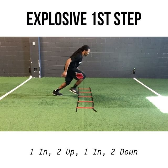💥 Explosive 1st Step 4 Simple & Effective #LadderDrills - • 1 In, 2 Up, 1 In, 2 Down • Up and Back • Ali Shuffle • Lateral High Knee Run - 🔑 Key Coaching Points 1) Slow is Smooth & Smooth is Fast! 2) Accuracy always comes before speed. - 📲 Save this for your next workout - . . . . . - #footballpractice #footballworkout #speedandstrength #speedandagility #speedkills #footballdrills #speeddrills #offseasontraining #sportstraining #beansthlete #runningdrills #footballdrills #basketballtraining #soccerdrills #soccertraining #specialteams #agilitydrills #conedrills #movementspecialist