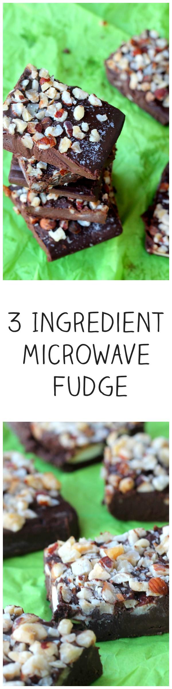 3 Ingredient Microwave Fudge