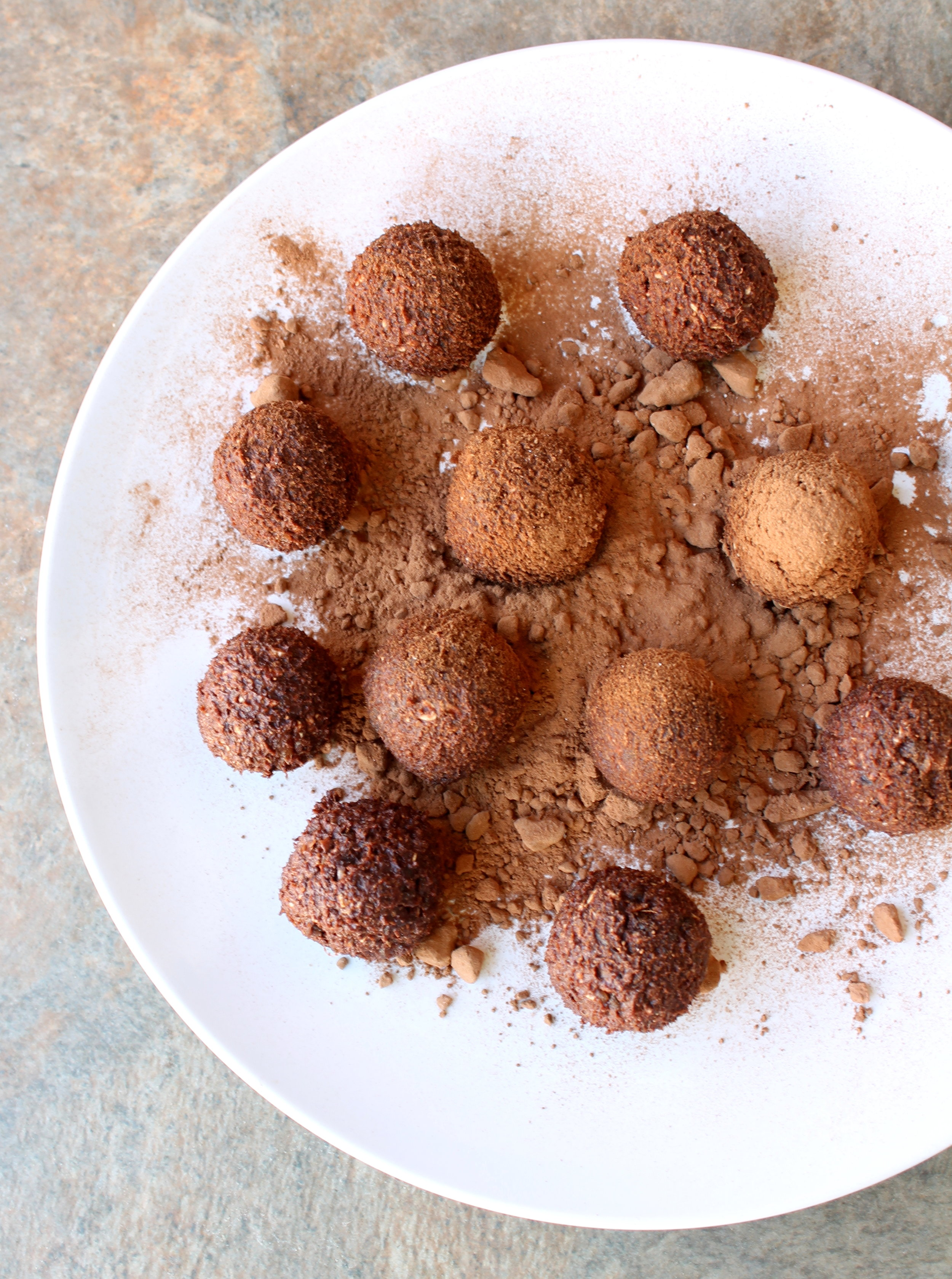 Chocolate Date Bites are naturally gluten-free, vegan snack that requires a bowl and 10 minutes of your time.