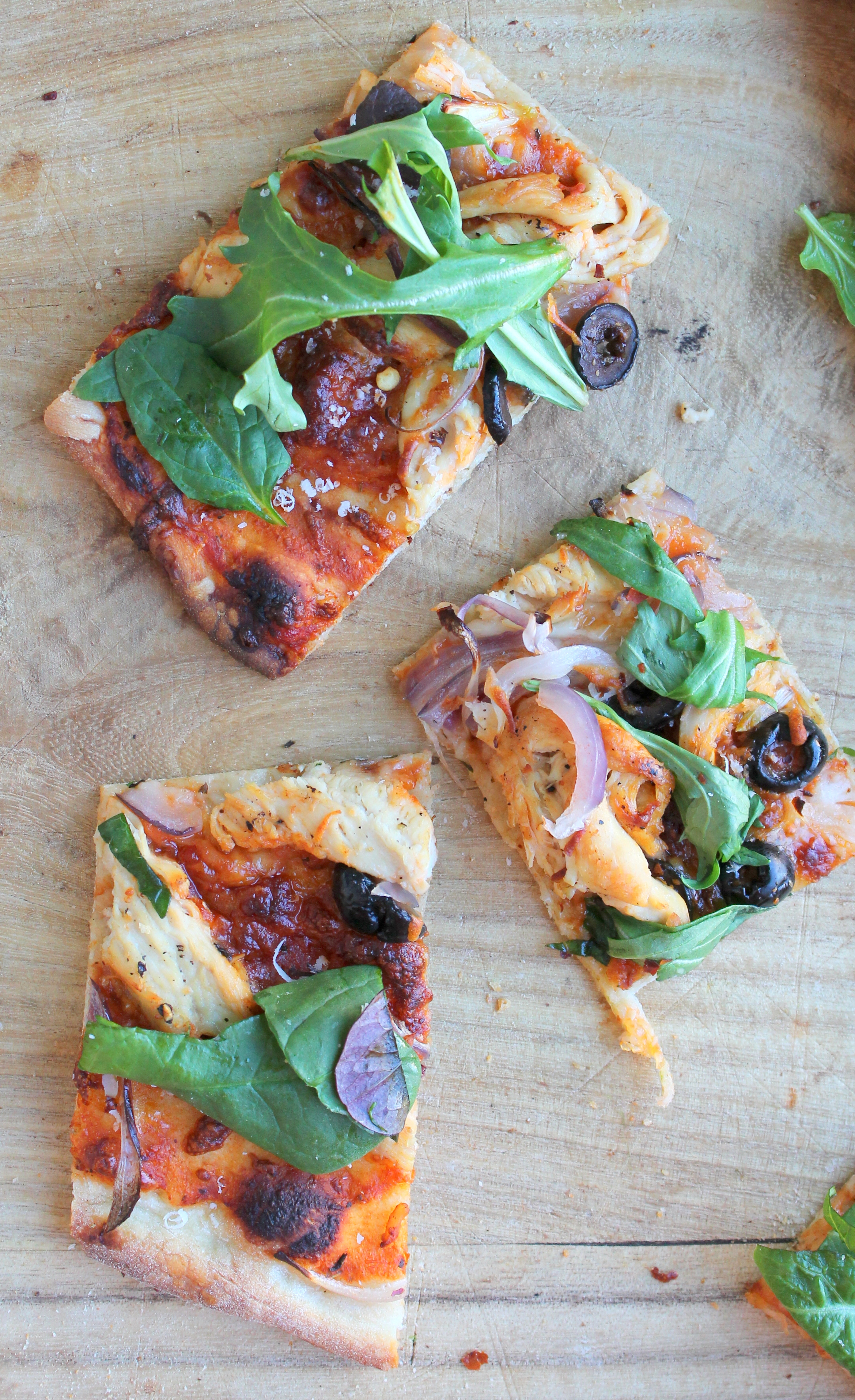 Easy Thin Crust Pizza is a full proof recipe that requires less than an hour to rise. The dough can be pre-made and you can enjoy it with your favorite toppings even on a weeknight.