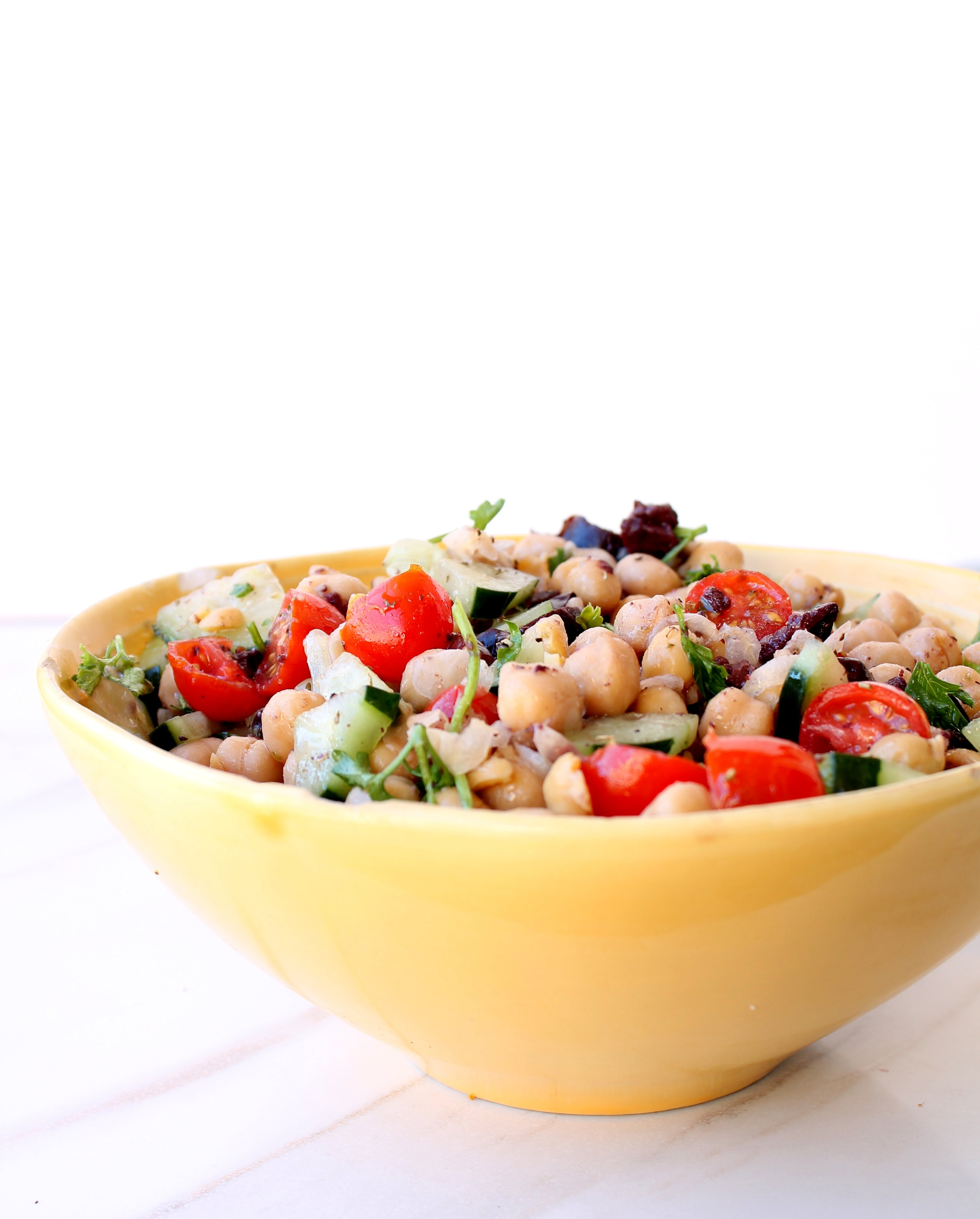 Lunchbox Chickpea Salad is naturally gluten-free, vegan, and very flexible. It requires a bowl, 10 minutes, and you will have lunch for days!