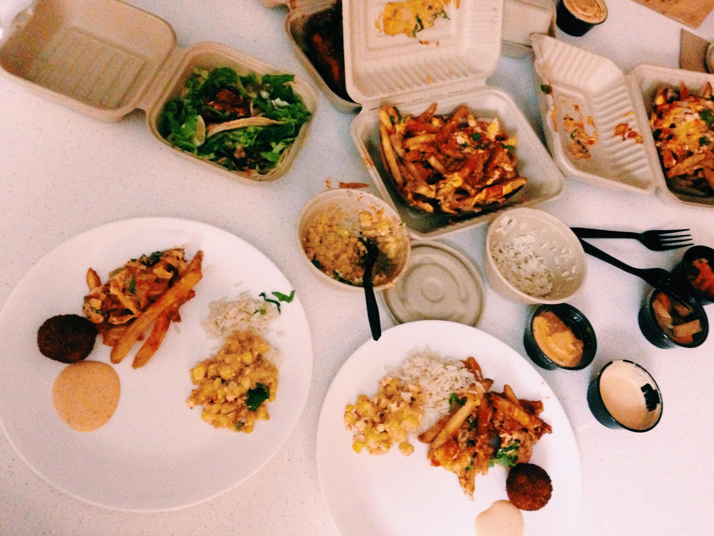Food from Chi'lantro BBQ, Austin