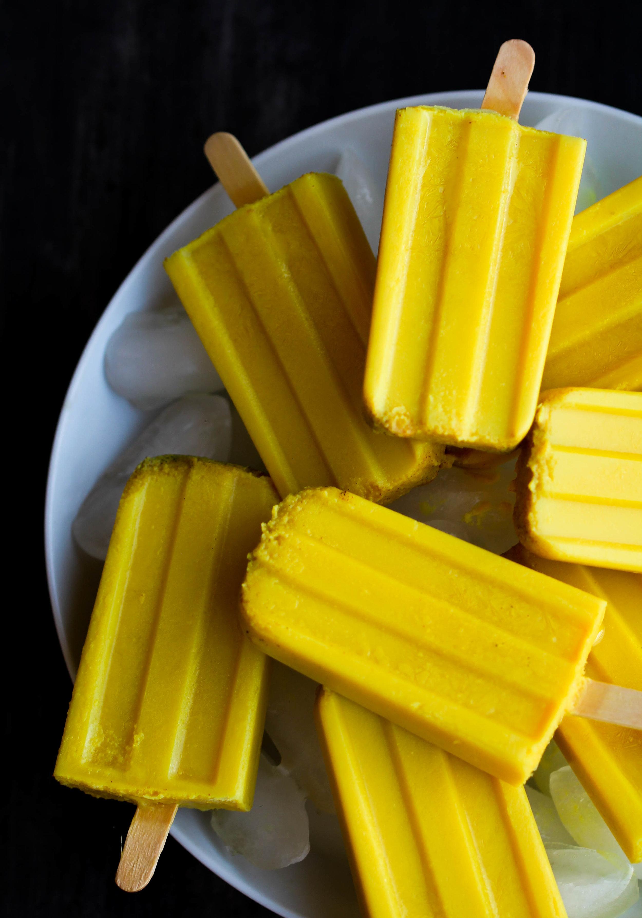 Golden Milk Popsicle