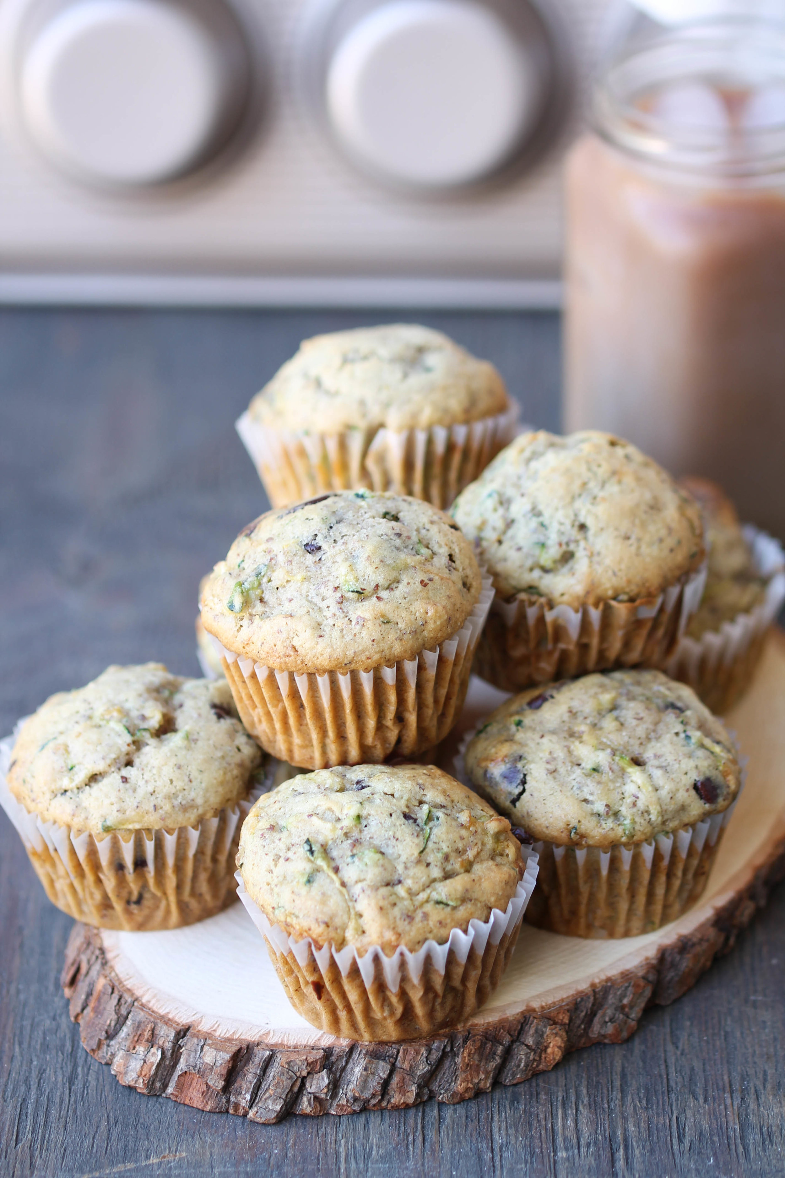Chocolate Chip Zucchini Muffins are insanely delicious, tender, and easy. Make a batch using leftover zucchini and enjoy them for a quick snack or dessert!