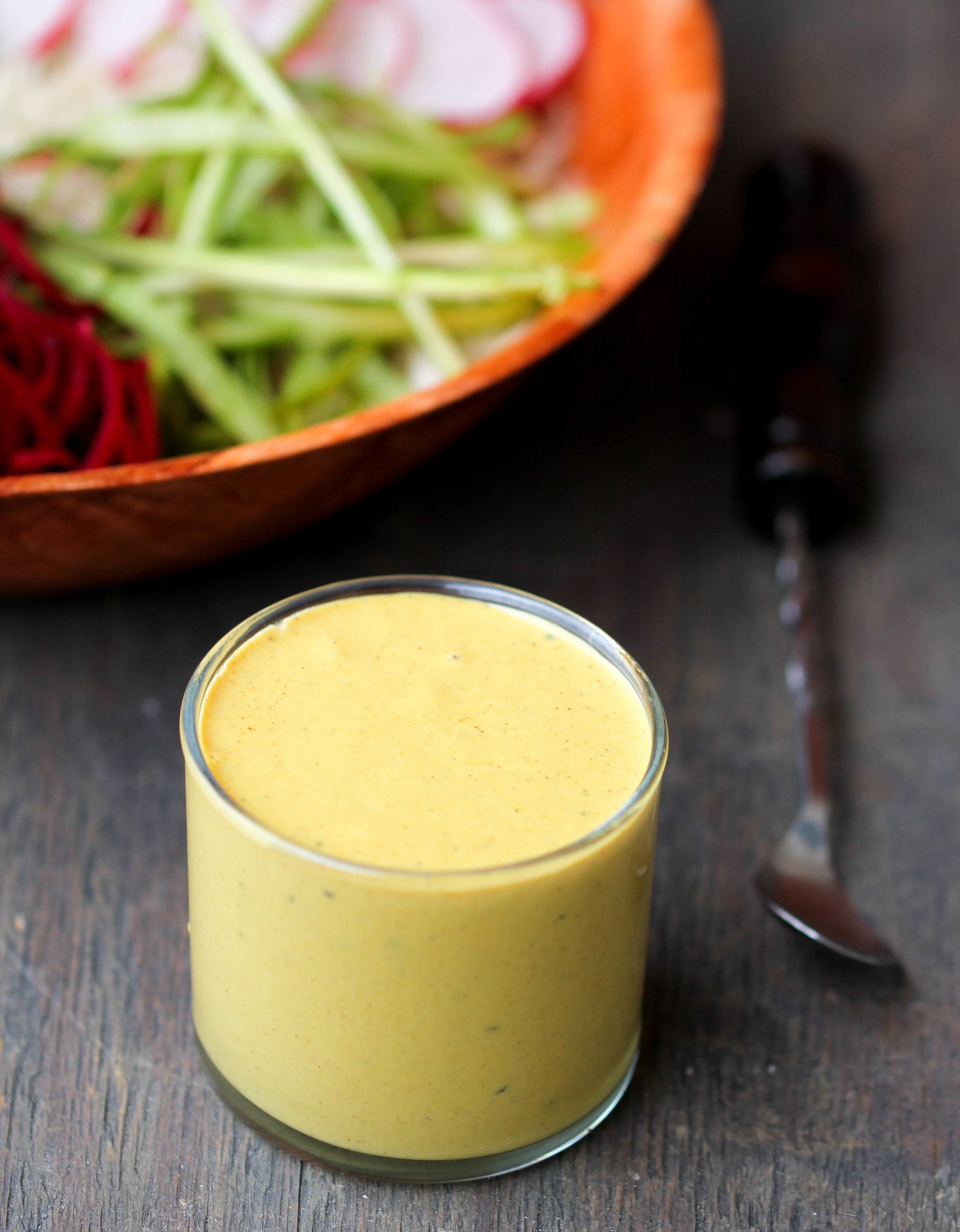 Spring Veggies with Tahini Turmeric Dressing will make eating veggies so much more exciting and adds a nutrition boost into your life with simple, flexible, easy to find ingredients.