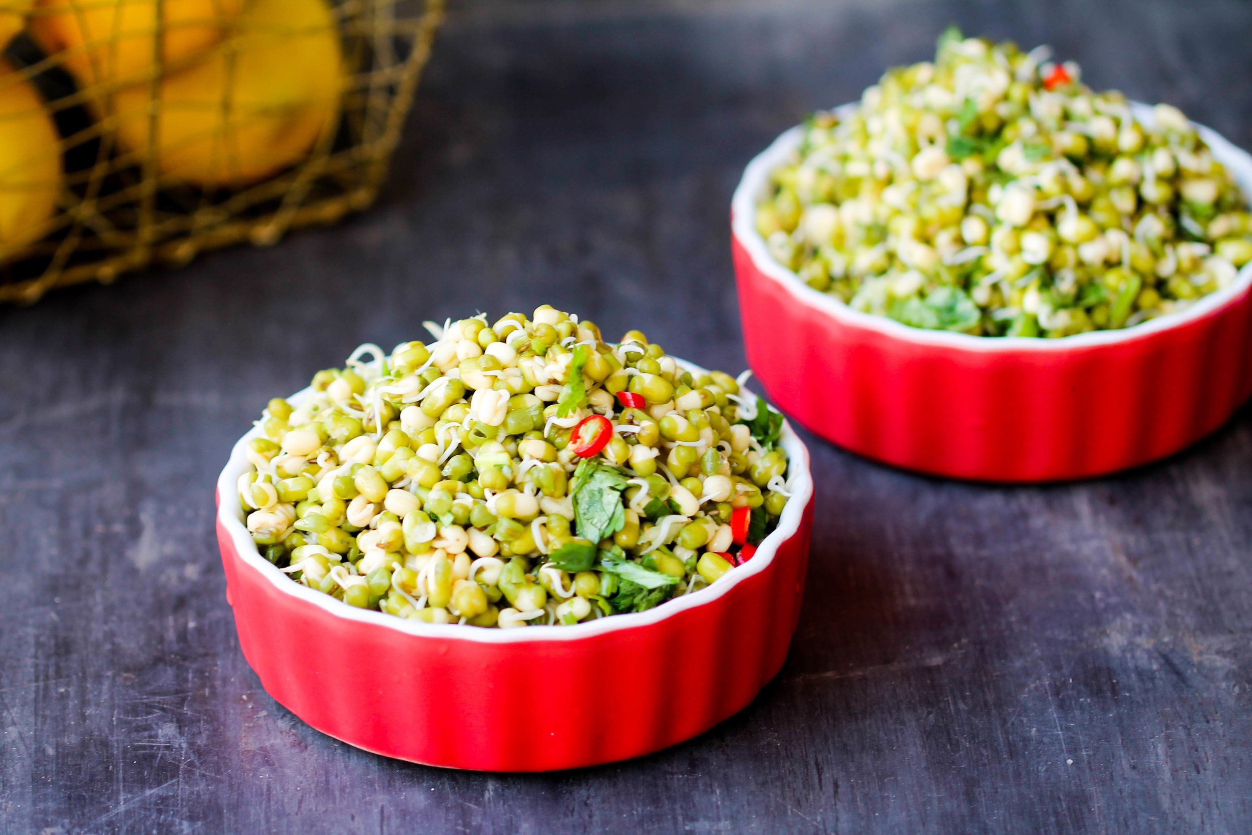 Sprouted Mung Bean Salad is easy, nutrient-dense, and great for a quick lunch! They are naturally vegan, gluten-free.
