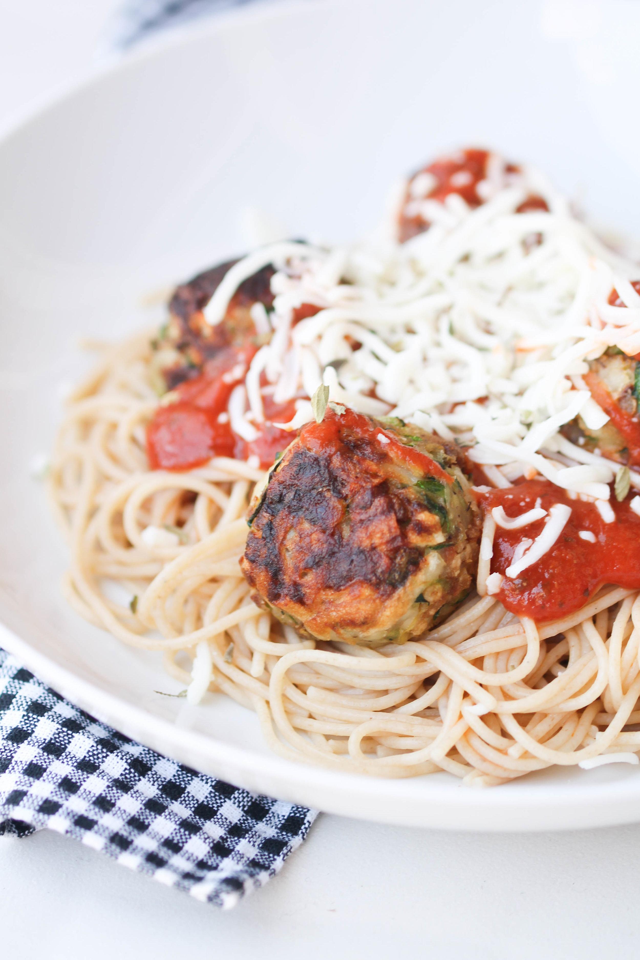 Pretzel Crusted Zucchini Meatballs!
