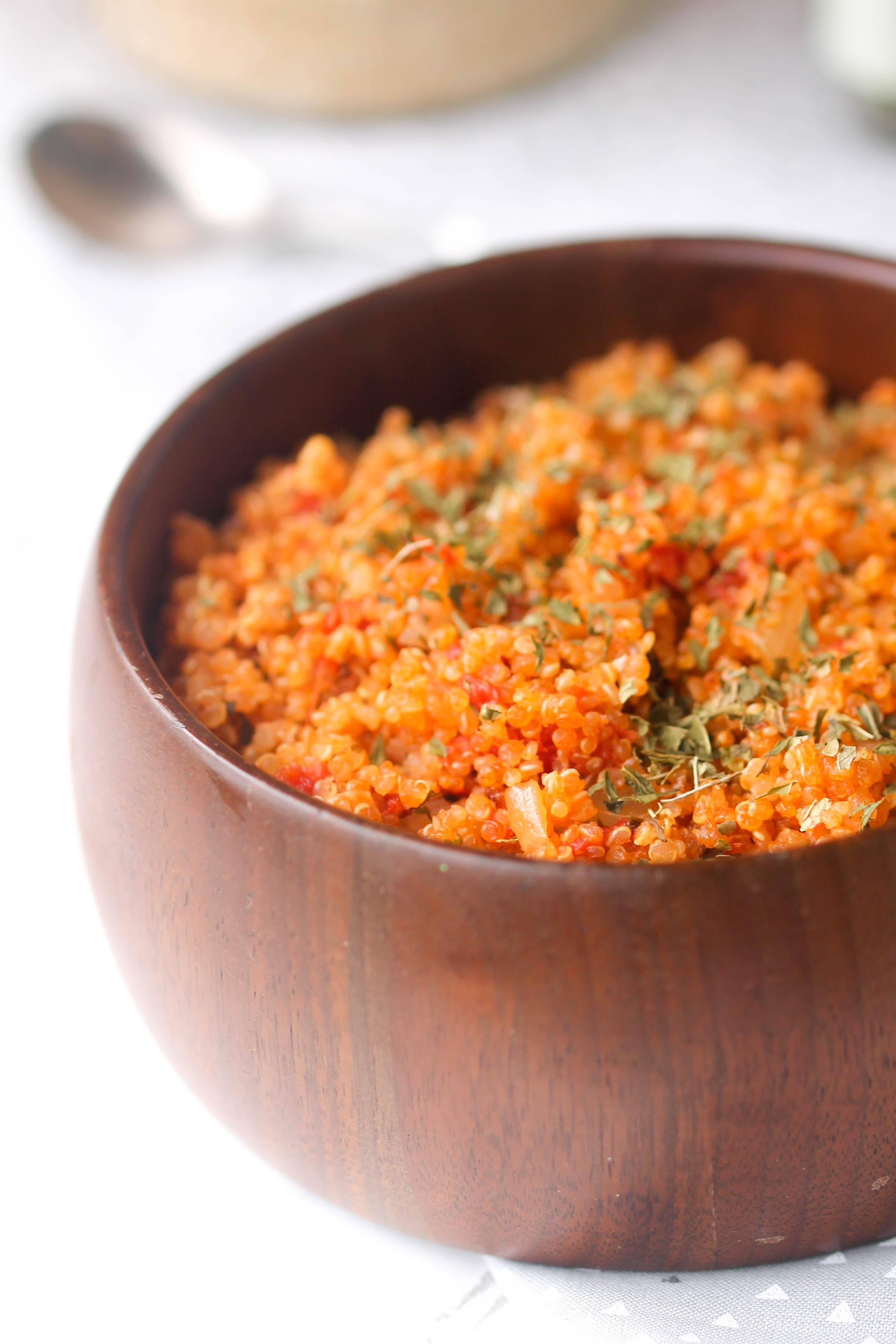 Easy, Healthy Tomato Mint Quinoa