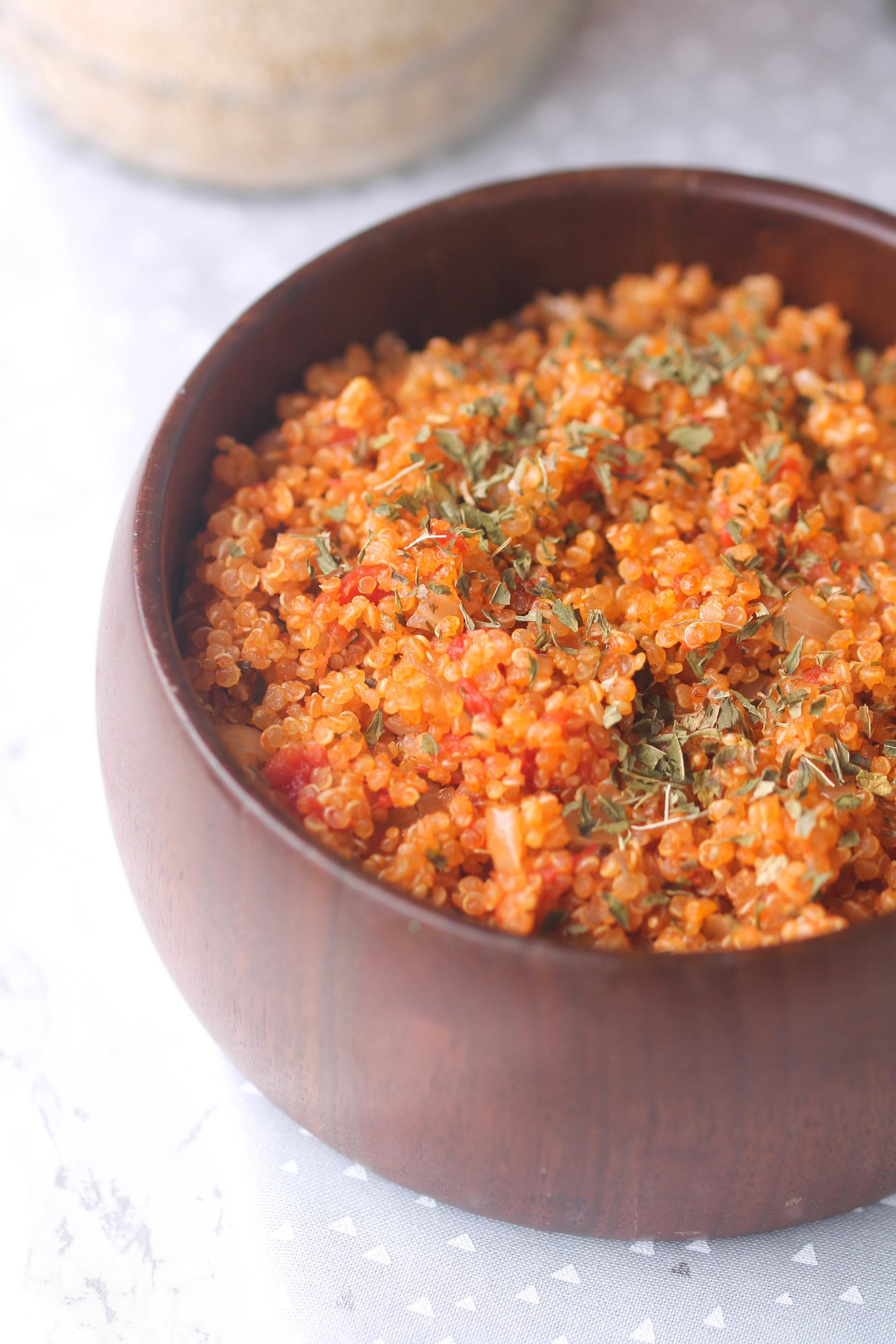 One Pot Tomato Mint Quinoa, Healthy