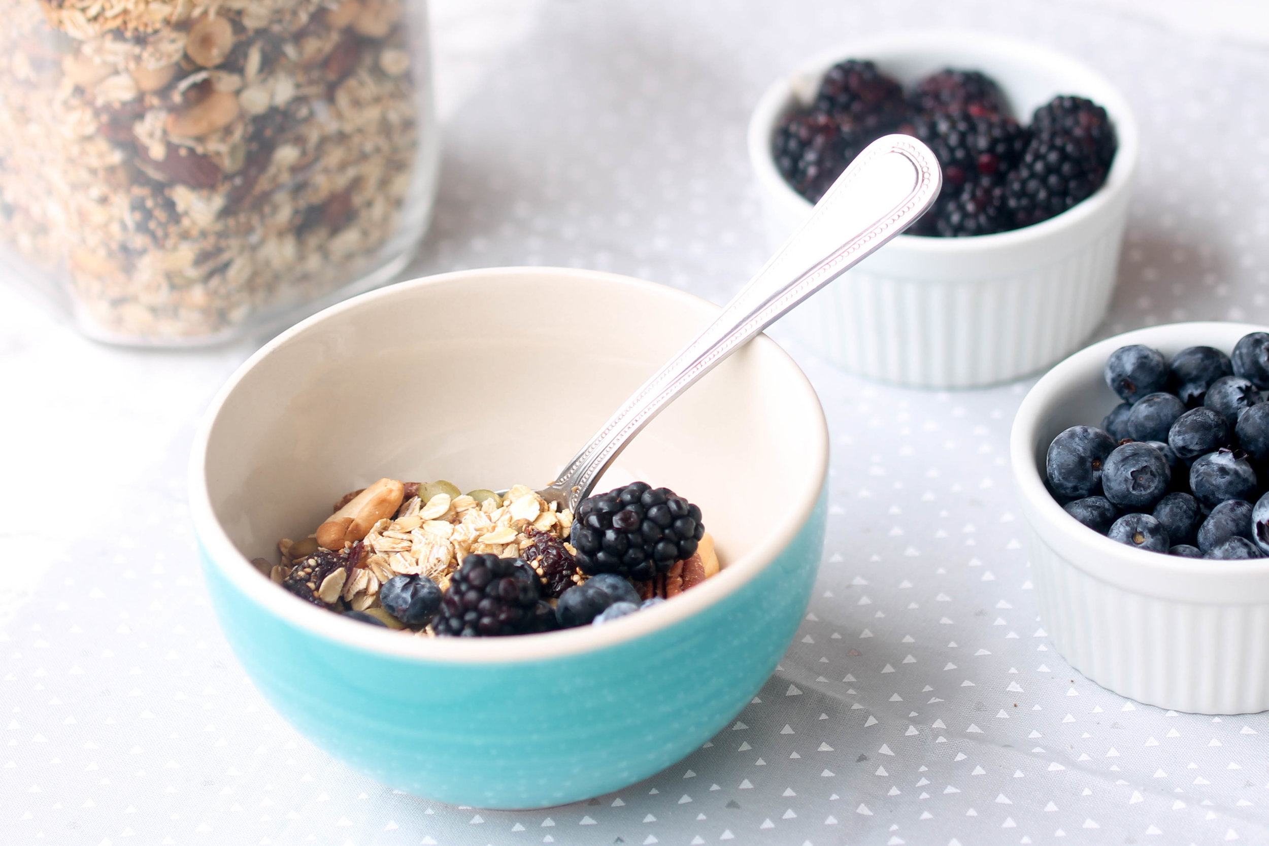 Homemade Muesli - quick, nutritious breakfast and snack option! Vegan and Gluten-Free.