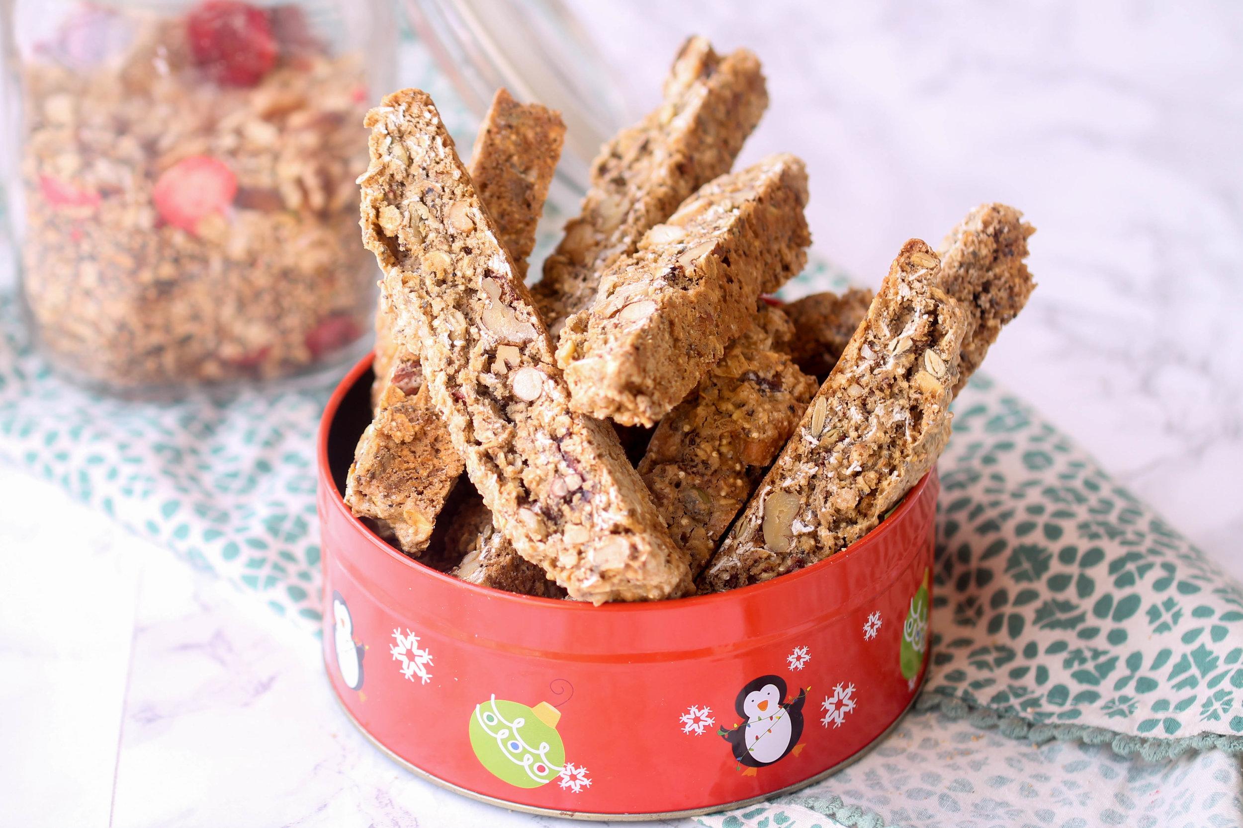 Healthy, Vegan Muesli Biscotti