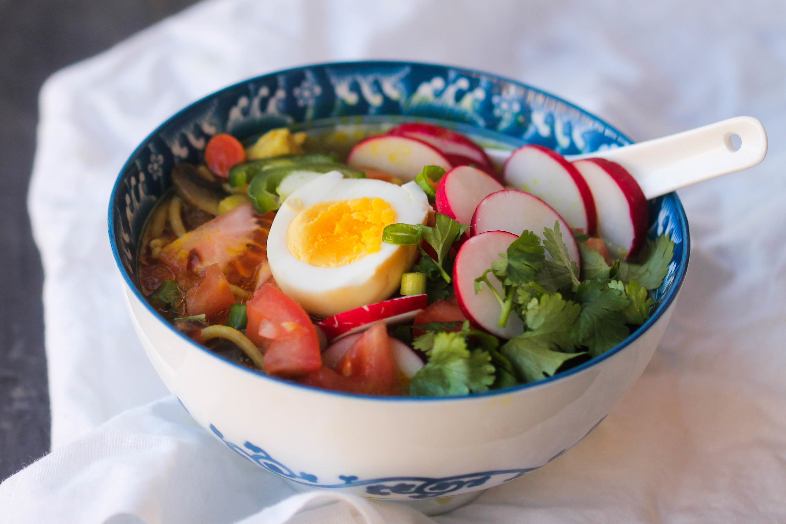 Nepali Style Thukpa is a cross between chicken noodle soup and ramen. It is a simple, wholesome, and comforting soup that is flexible to please every lifestyle.