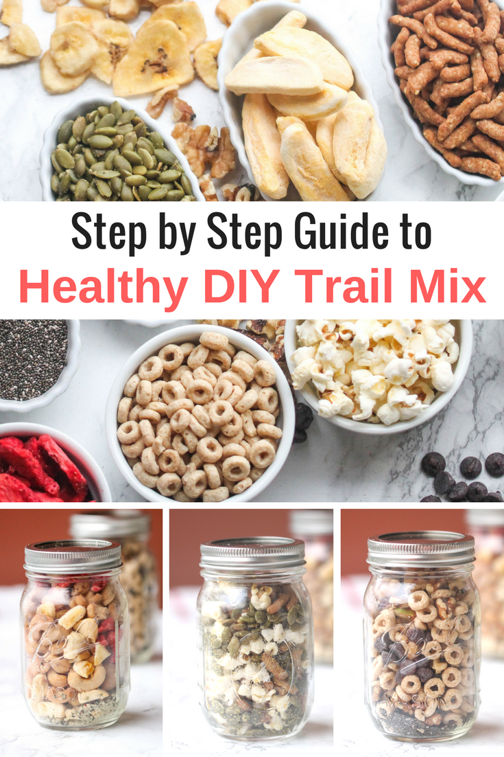 Learn how to build a healthy DIY trail mix! Sharing what to include & how to customize your trail mix to suit your needs.