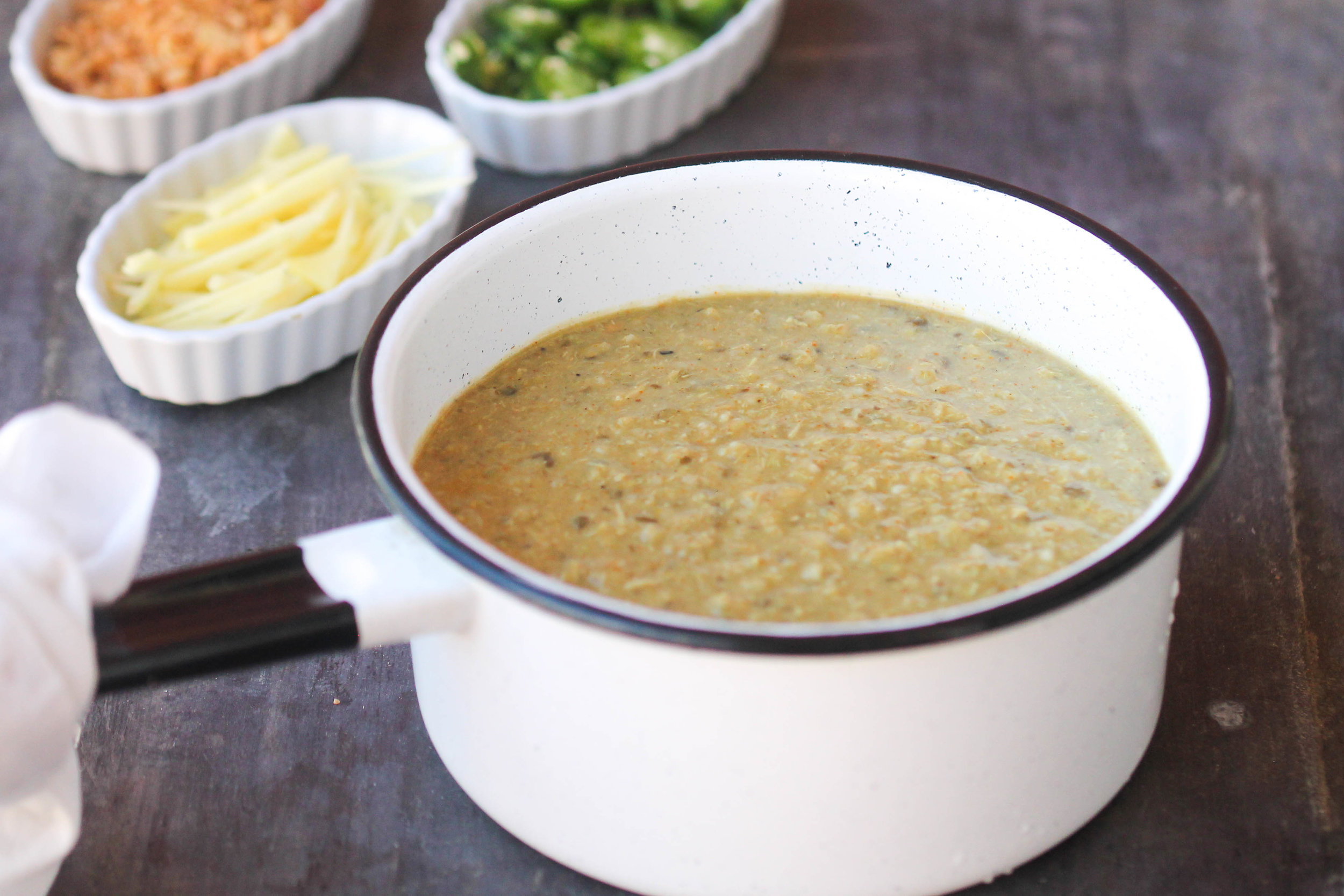 Easy Chicken Haleem is a thick stew with pureed grains, lentils, and chicken. It is very popular in the Indian sub-continent regions & Middle East.