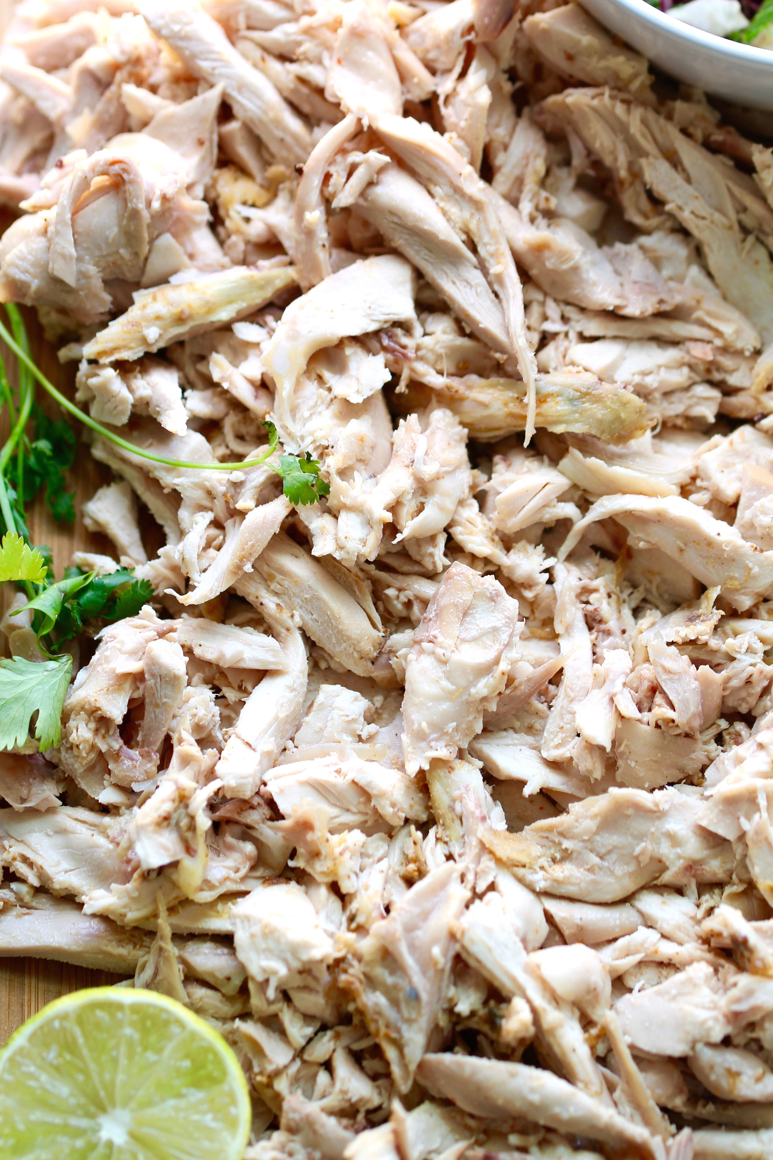 Roasted Chicken Tacos are dinner friendly for the whole family. Everything can be prepped ahead of time or bought directly from the store for convenience.