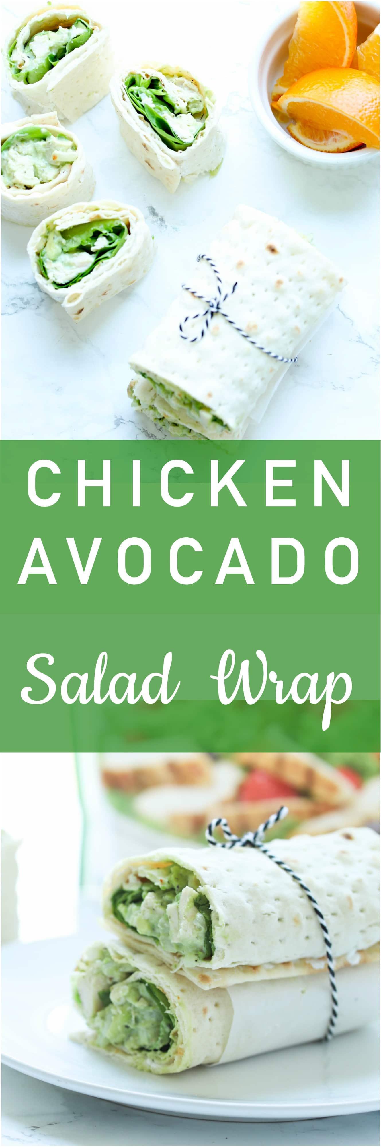 Chicken Avocado Salad Wrap Lunch
